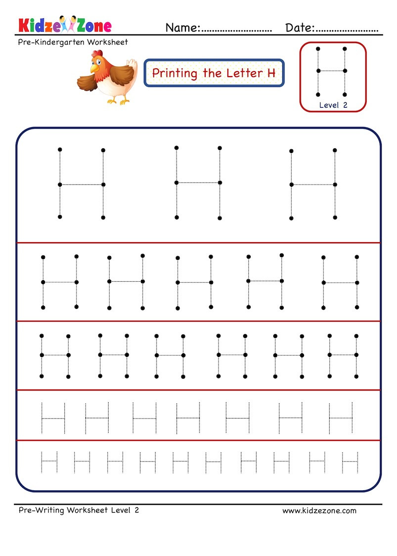 Letter H Tracing Worksheets Preschool Preschool Letter Tracing Worksheet Letter H Different