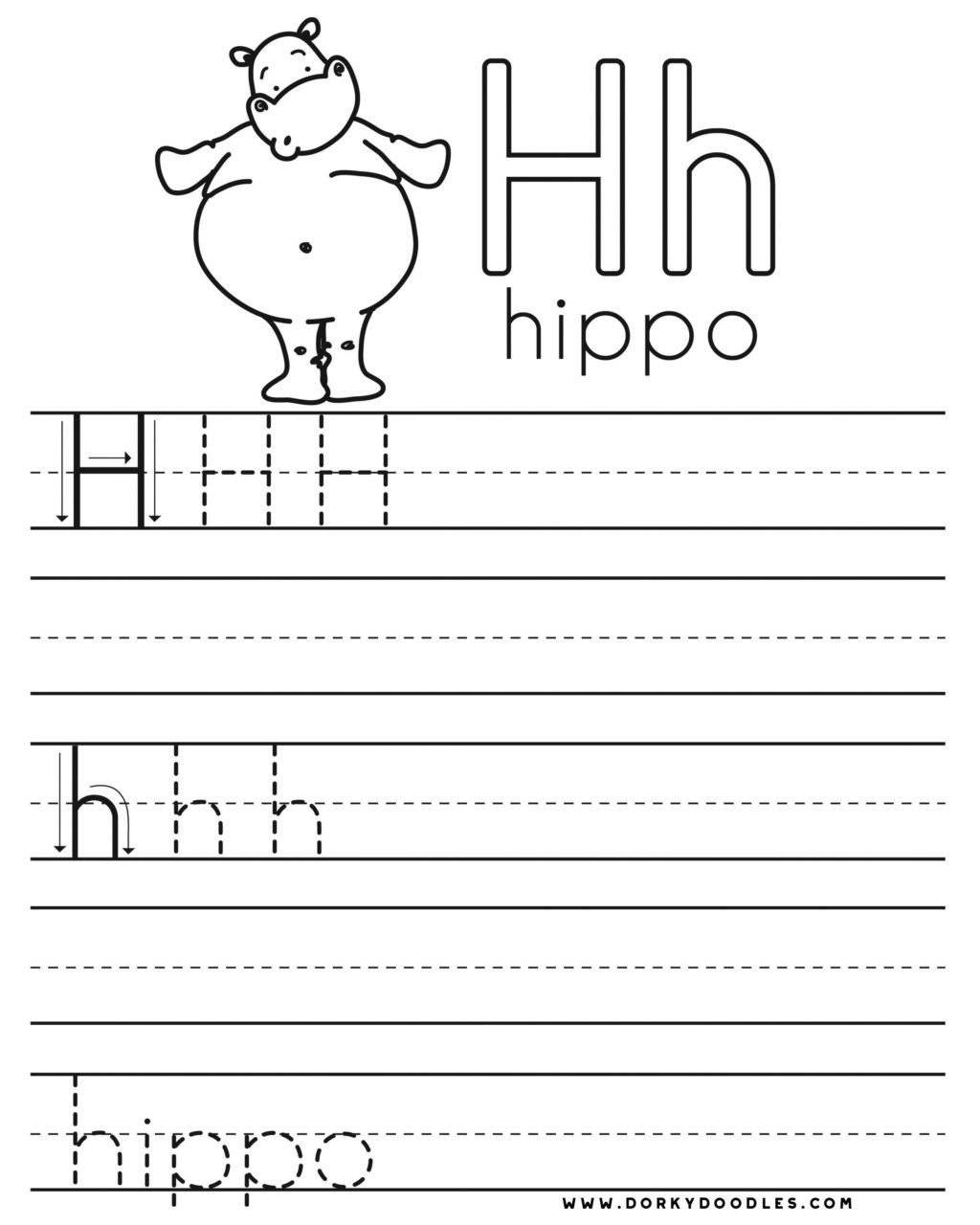 Letter H Tracing Worksheets Preschool Worksheet Staggering Letter Practice Worksheet Image Ideas