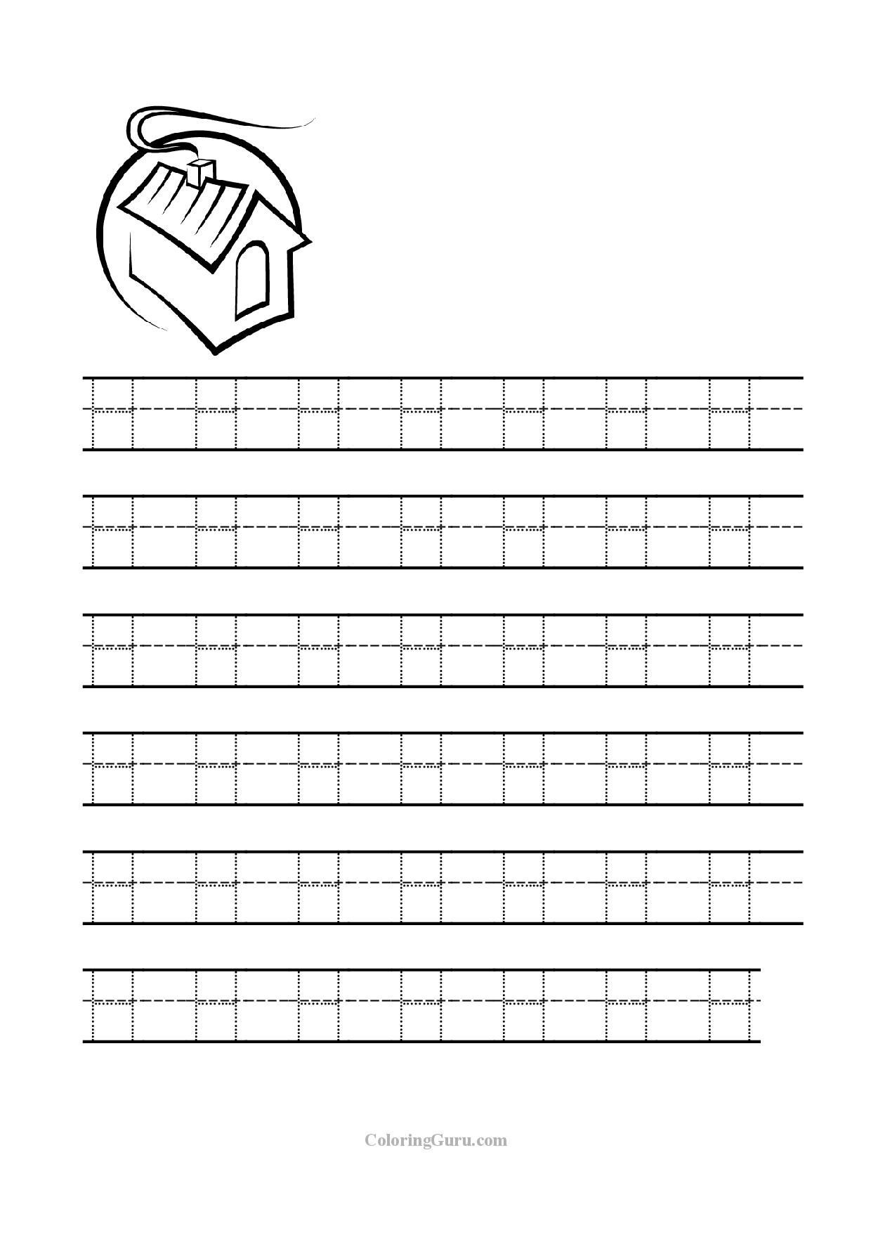 Letter H Worksheets for Preschoolers Free Printable Tracing Letter H Worksheets for Preschool