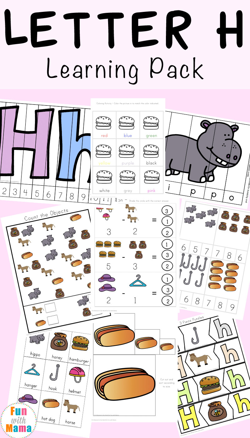 Letter H Worksheets for Preschoolers Letter H Worksheets Activities Fun with Mama