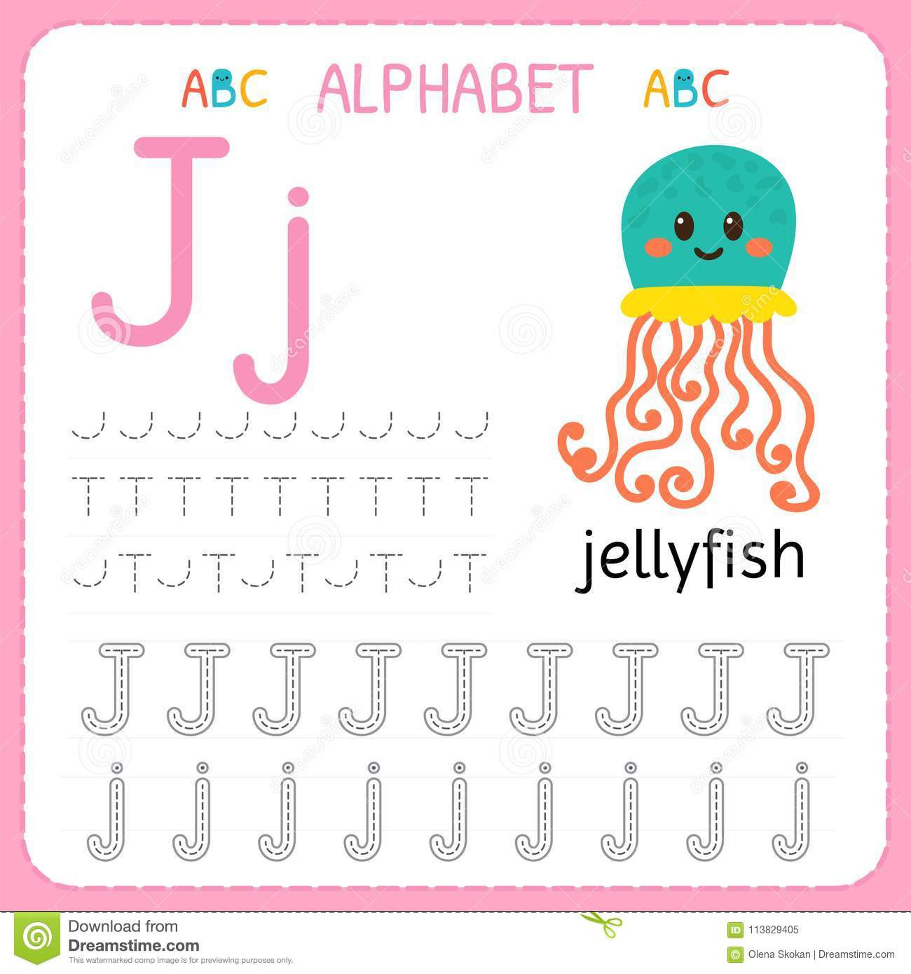 Letter J Tracing Worksheets Preschool Alphabet Tracing Worksheet for Preschool and Kindergarten