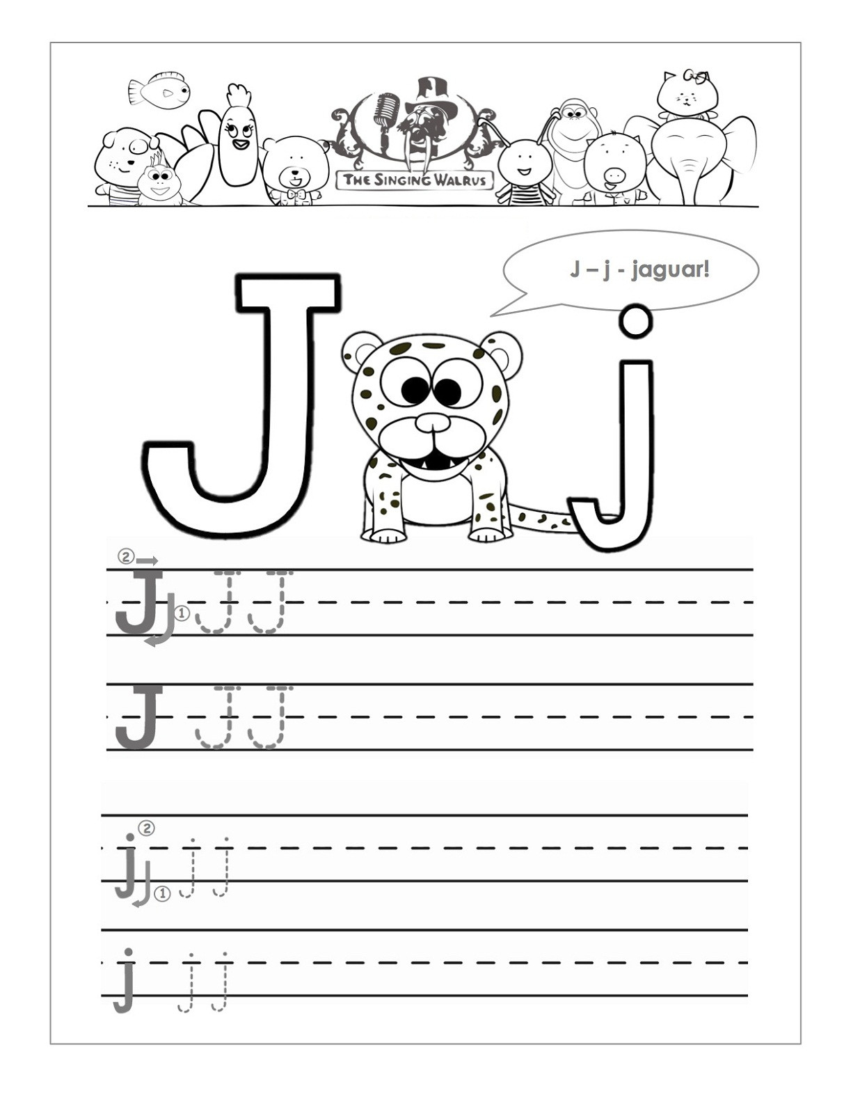 Letter J Tracing Worksheets Preschool Letter J Worksheets Objets
