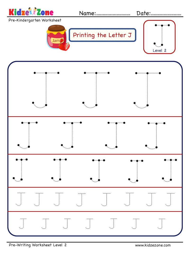 Letter J Tracing Worksheets Preschool Preschool Letter Tracing Worksheet Letter J Different
