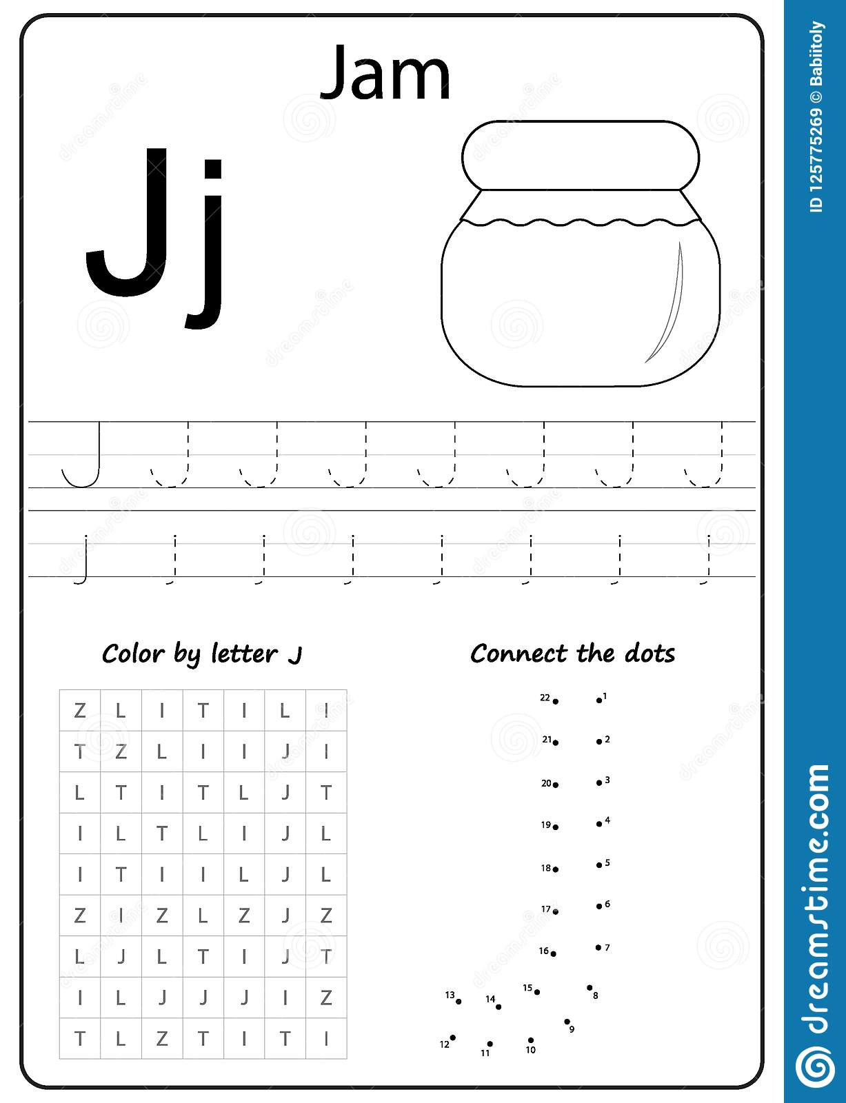Letter J Tracing Worksheets Preschool Writing Letter Worksheet Alphabet Exercises Game for Kids
