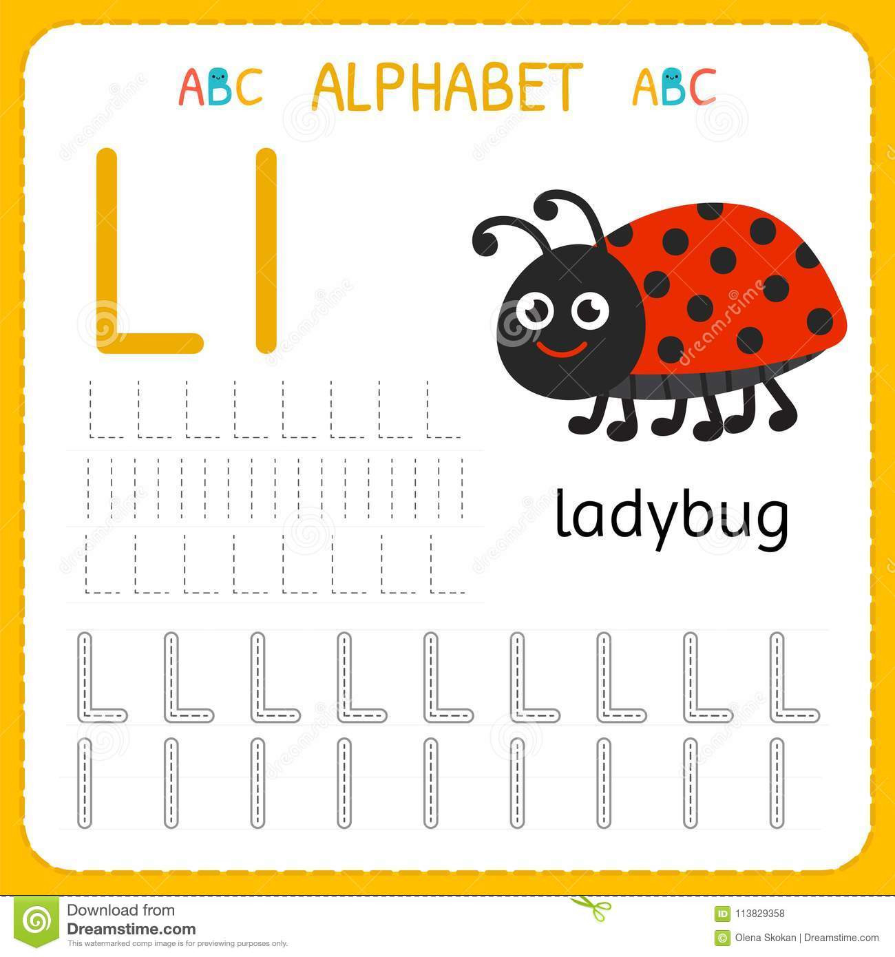 Letter L Worksheet for Preschool Alphabet Tracing Worksheet for Preschool and Kindergarten