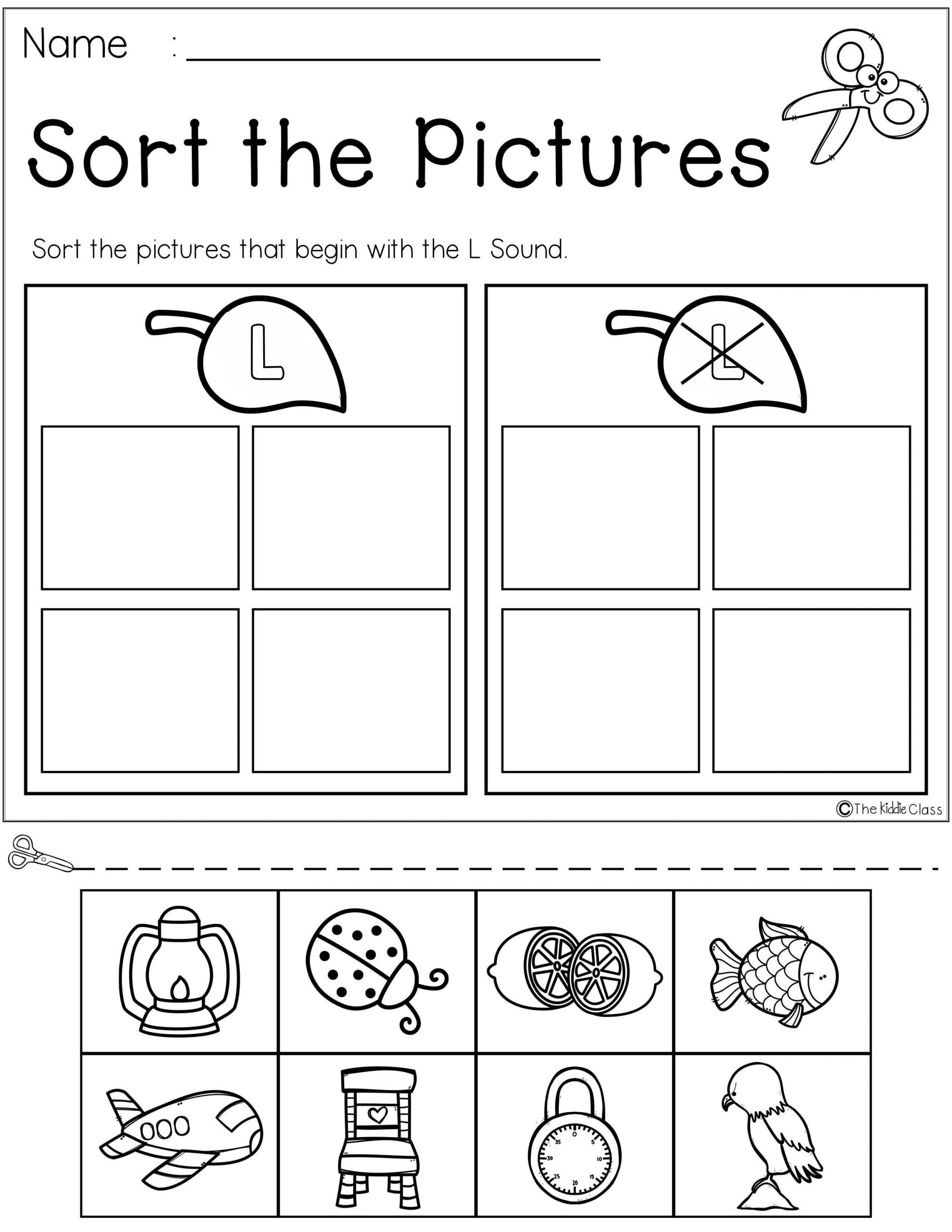 Letter L Worksheet for Preschool Letter Of the Week L