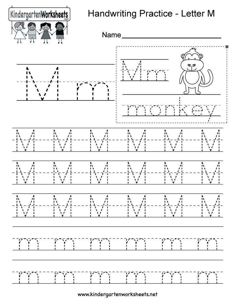 Letter M Worksheets for Preschoolers Letter M Tracing Worksheet Printable Letter M Tracing