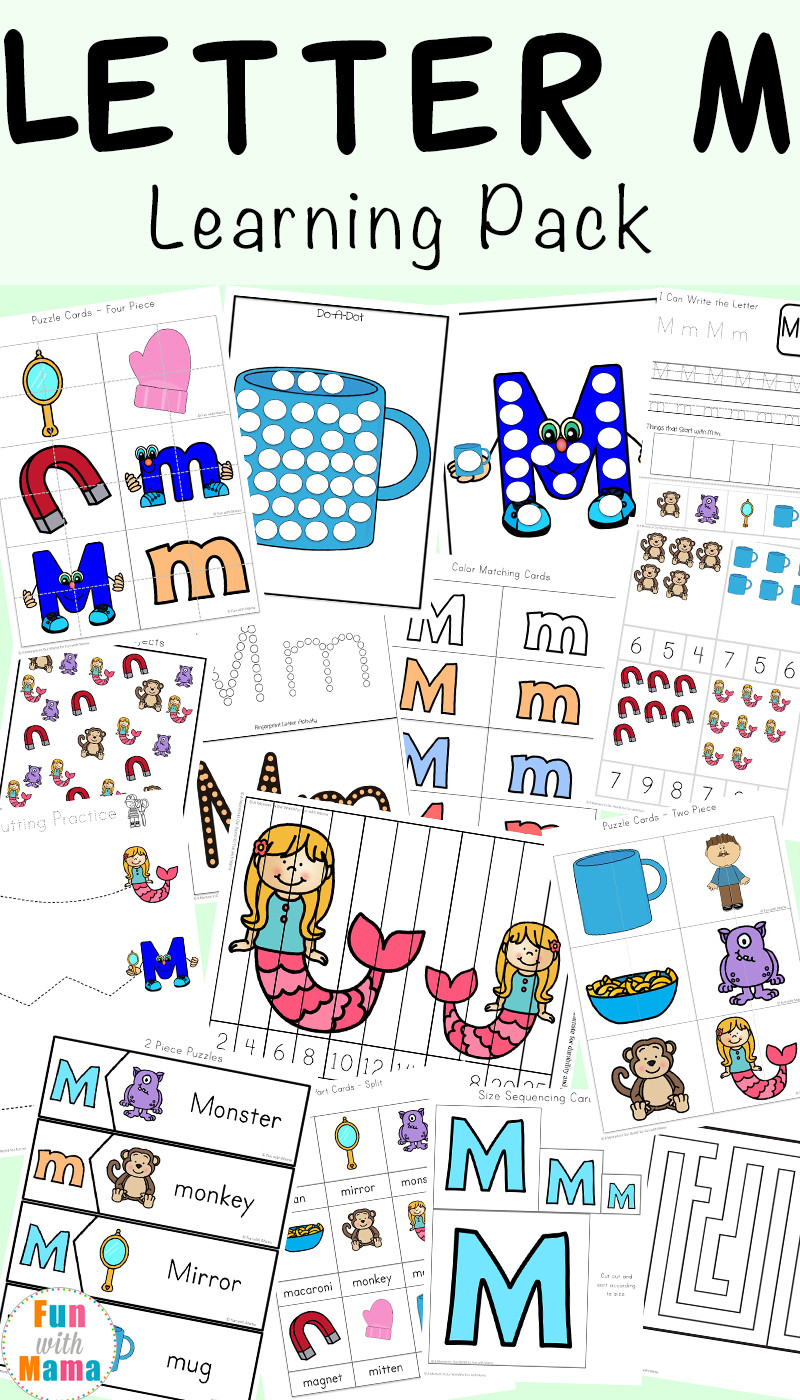 Letter M Worksheets for Preschoolers Letter M Worksheets Fun with Mama