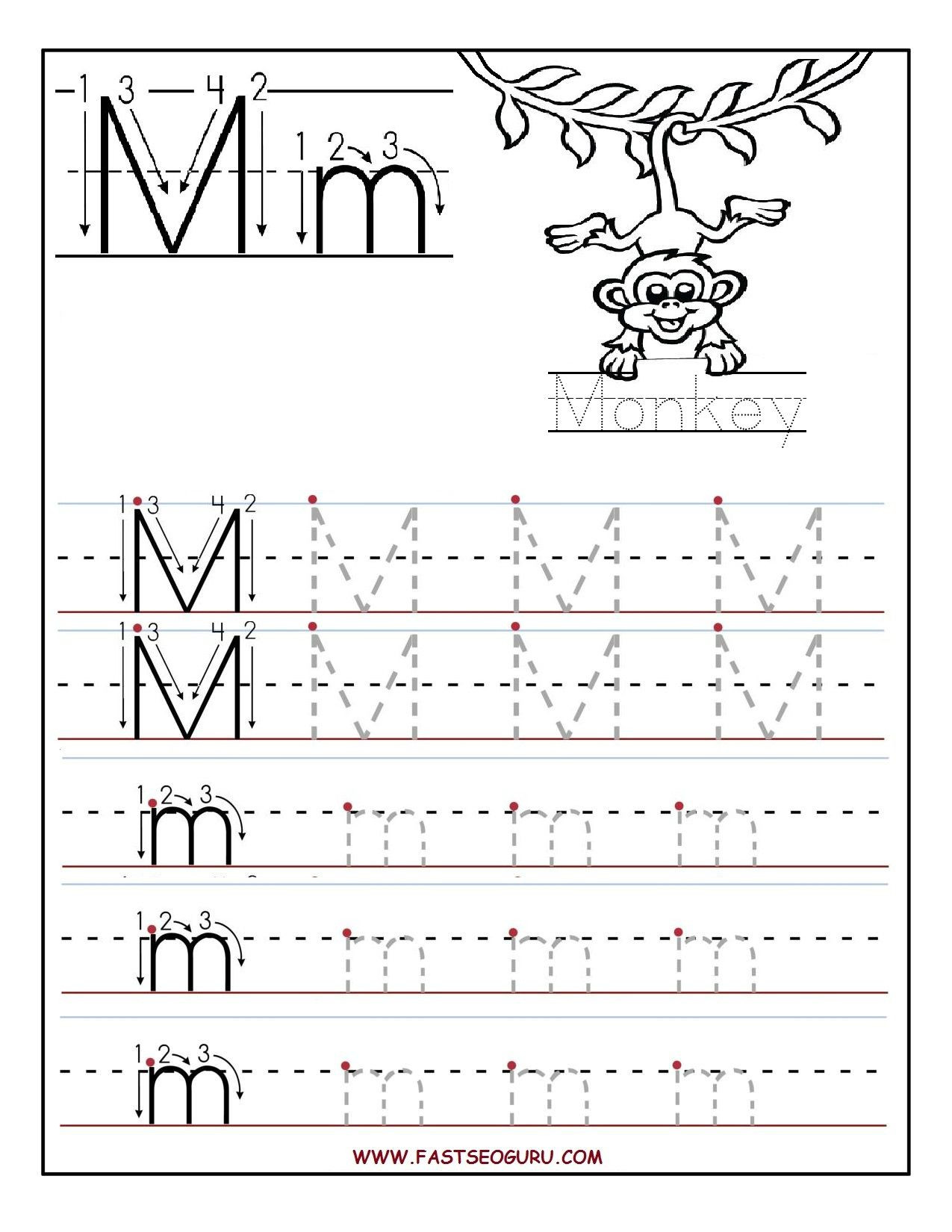 Letter M Worksheets Preschool Printable Letter M Tracing Worksheets for Preschool