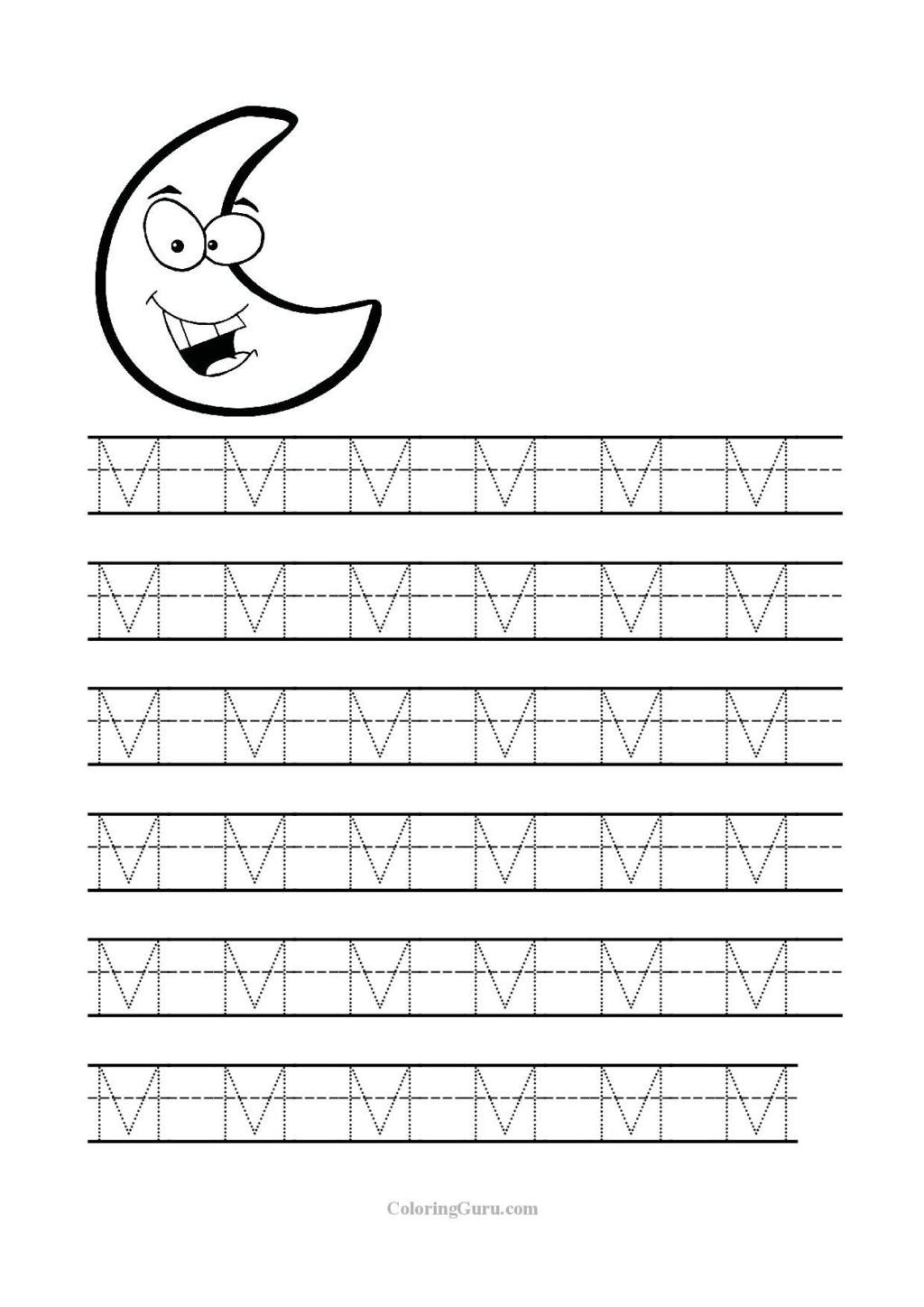 Letter M Worksheets Preschool Worksheet Letters Practice for Preschoolers Free Printable