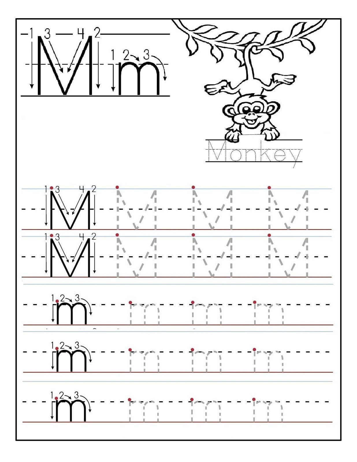 Letter N Tracing Worksheets Preschool 2 Preschool Letter N Tracing Worksheets In 2020