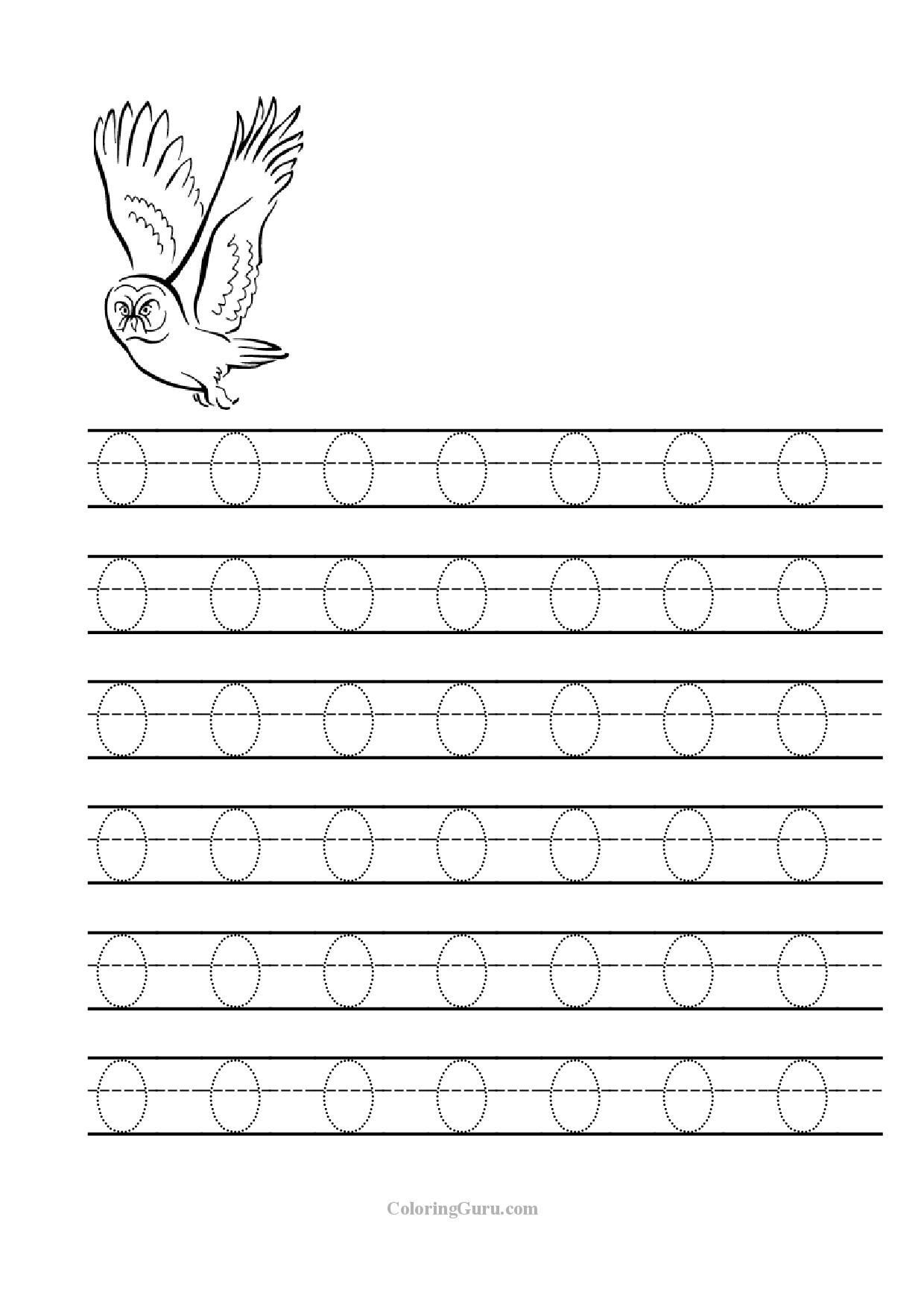 Letter O Worksheets for Preschool Free Printable Tracing Letter O Worksheets for Preschool