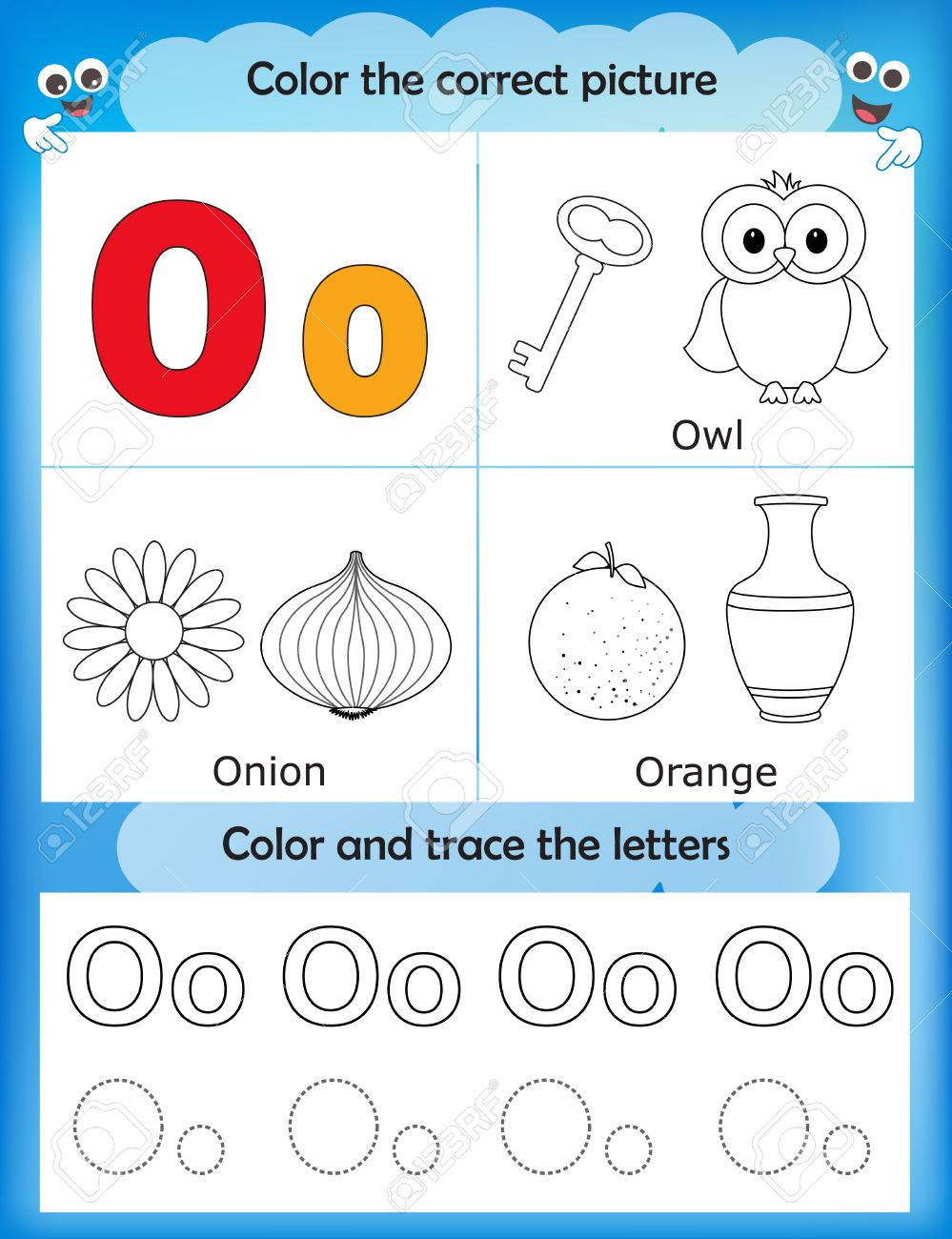 Letter O Worksheets for Preschool Worksheet Awesome Osheets for Kindergarten Image