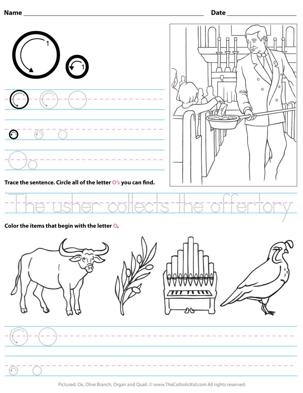 Letter O Worksheets for Preschool Worksheet Catholic Alphabet Letter O Worksheet Preschool