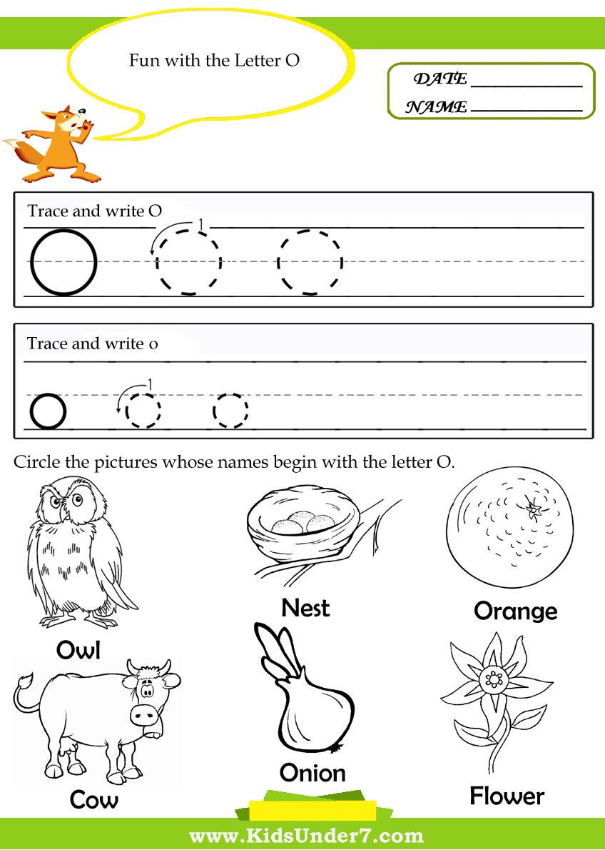 Letter O Worksheets for Preschool Worksheet O Worksheets for Kindergartene Preschoolers