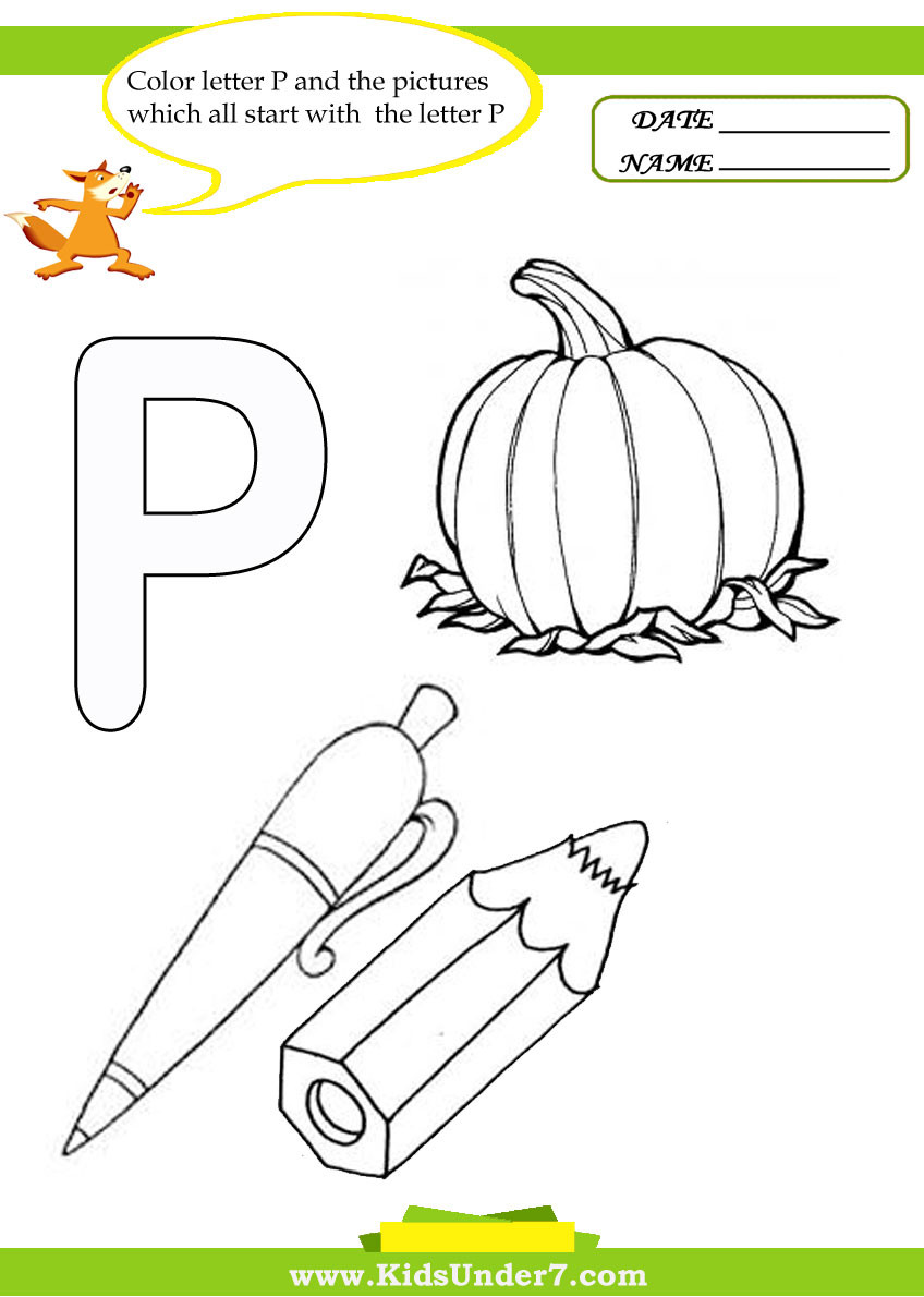 Letter P Preschool Worksheets Kids Under 7 Letter P Worksheets and Coloring Pages