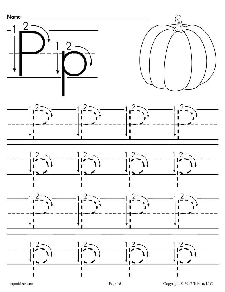 Letter P Preschool Worksheets Printable Letter P Tracing Worksheet with Number and Arrow Guides