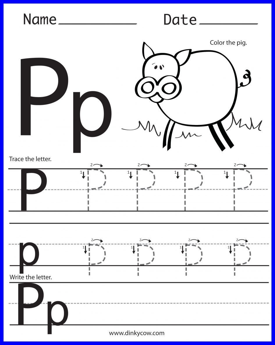 Letter P Worksheets Preschool 14 Constructive Letter P Worksheets