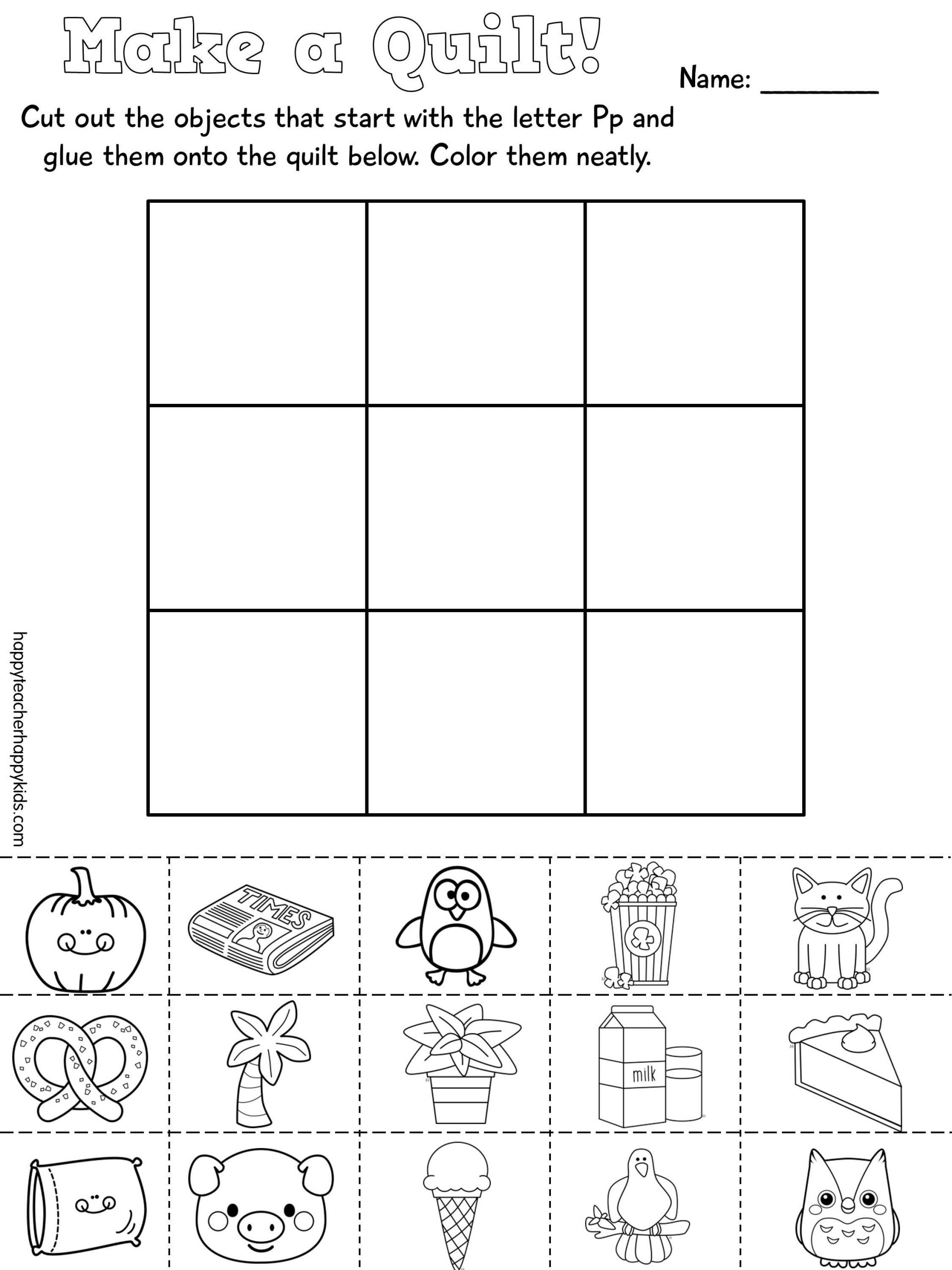 Letter P Worksheets Preschool Letter P