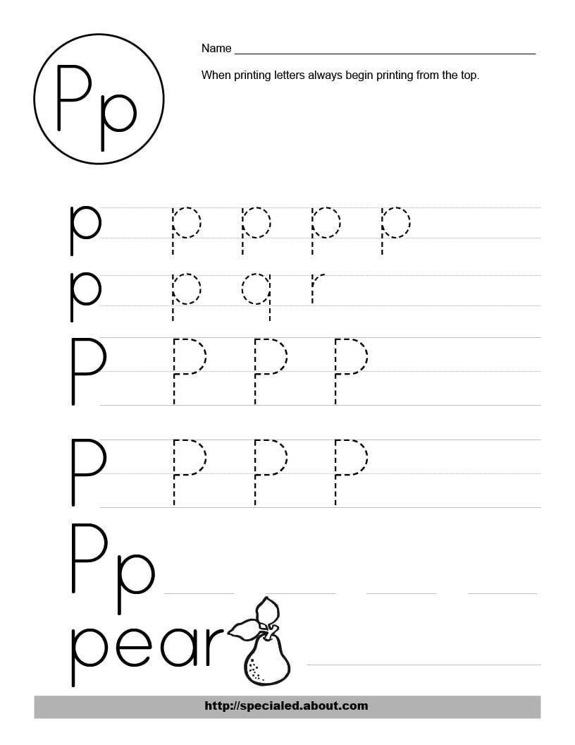 Letter P Worksheets Preschool Letter P Worksheets to Print Letter P Worksheets Alphabet