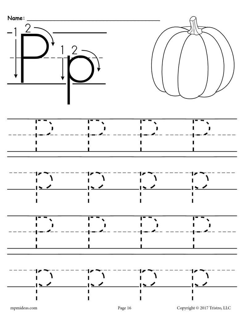 Letter P Worksheets Preschool Printable Letter P Tracing Worksheet