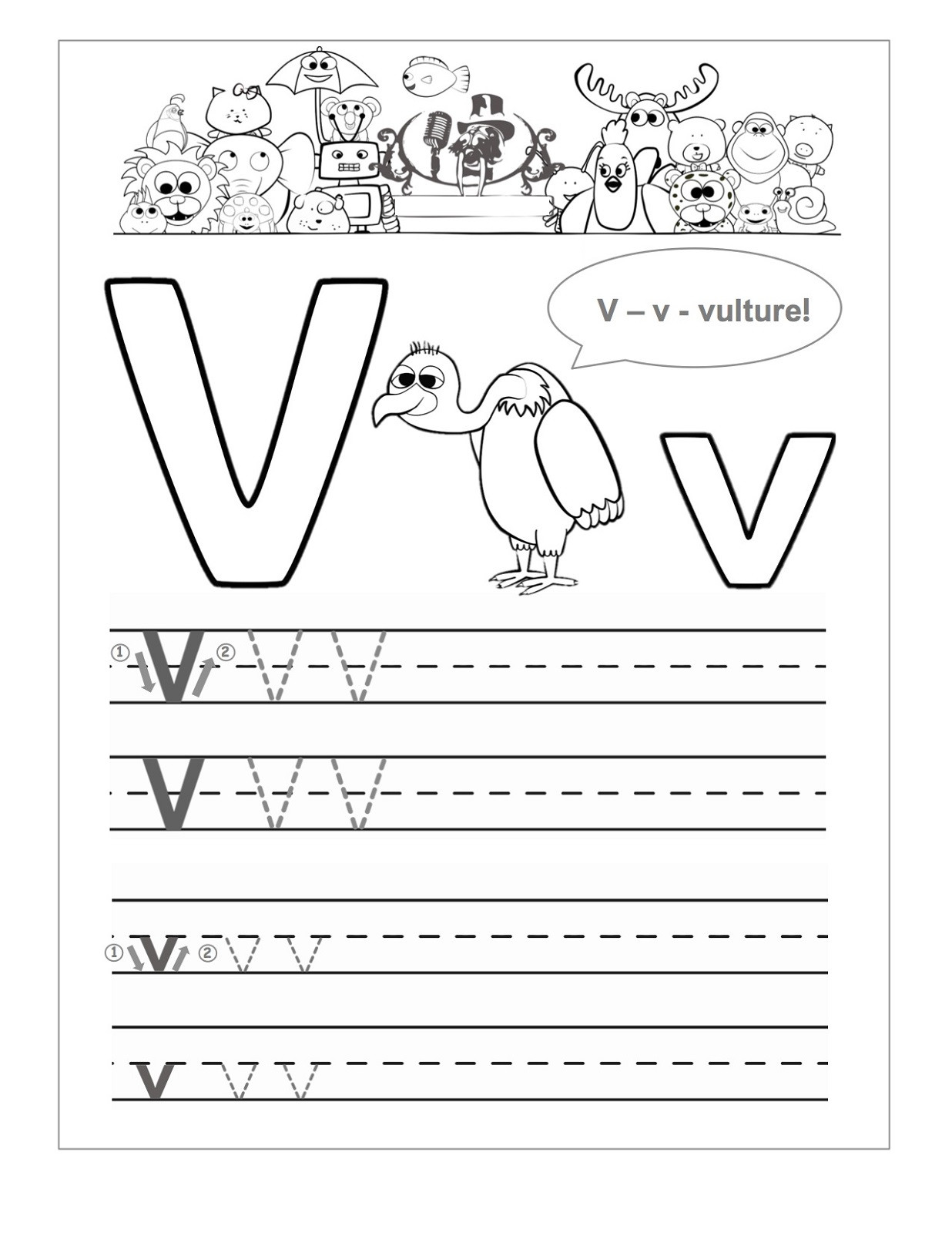 Letter V Worksheets Preschool Letter V Worksheets to Print