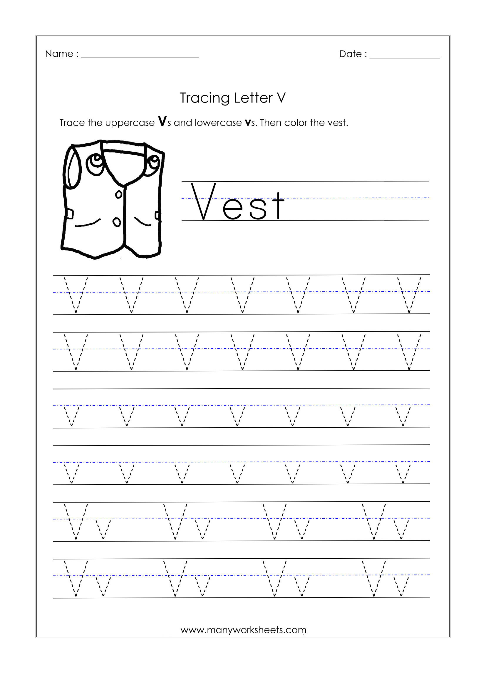Letter V Worksheets Preschool Math Worksheet Kindergarten Abc Worksheets Kindergarten