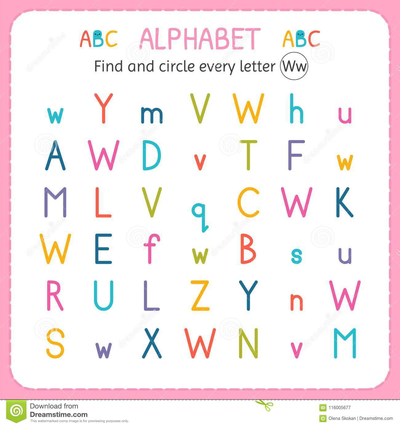 Letter W Worksheets for Preschoolers Find and Circle Every Letter W Worksheet for Kindergarten