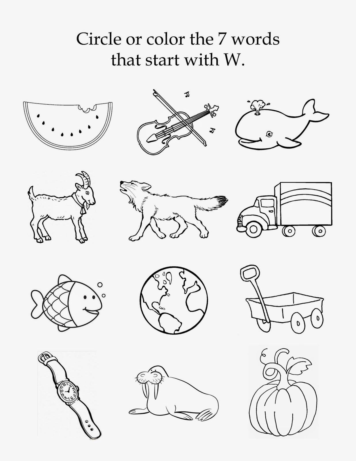 Letter W Worksheets for Preschoolers the Letter W