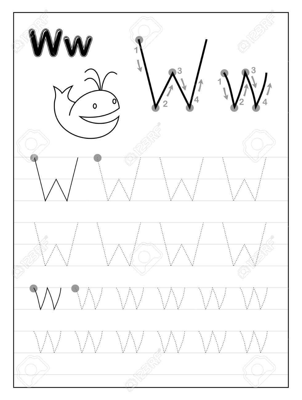 Letter W Worksheets for Preschoolers Worksheet Free Printable Letterracing Worksheets for