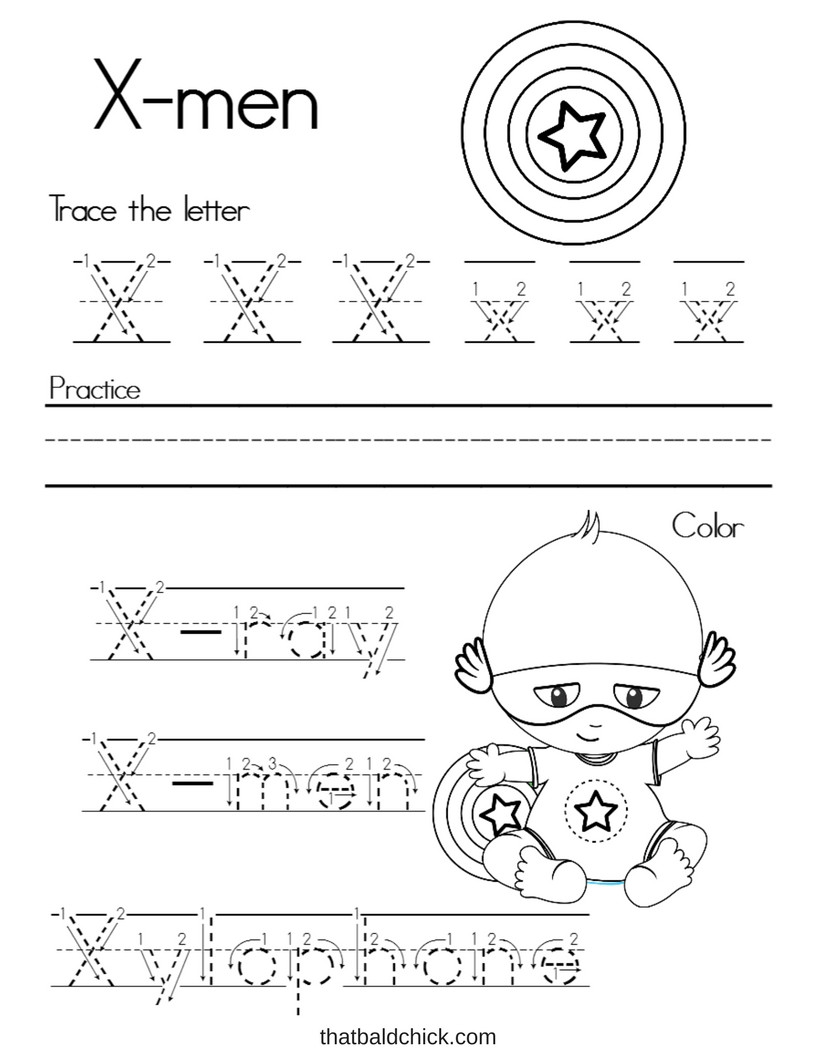 Letter X Worksheets for Preschool Worksheet Worksheet Letter X Alphabet Writing Practice