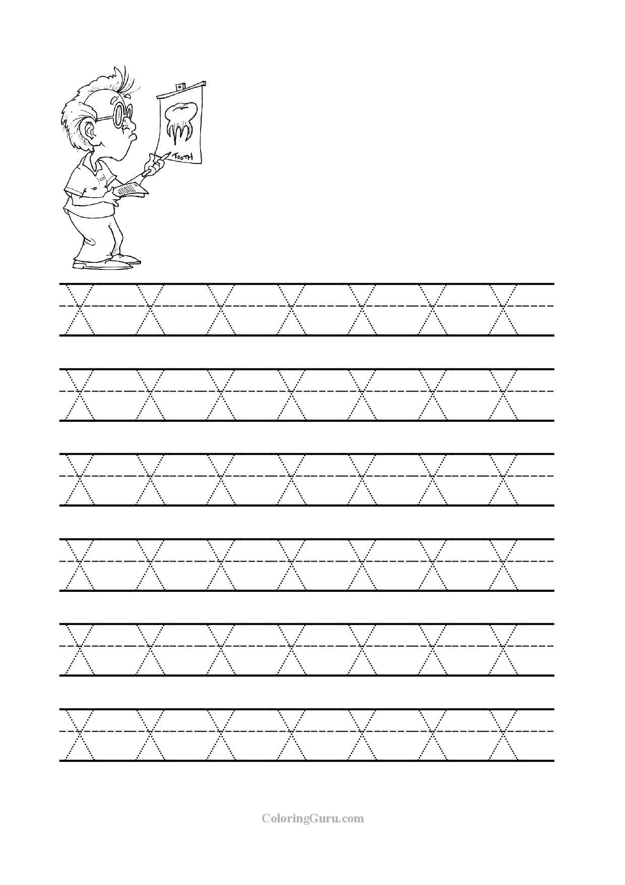 Letter X Worksheets for Preschoolers Free Printable Tracing Letter X Worksheets for Preschool