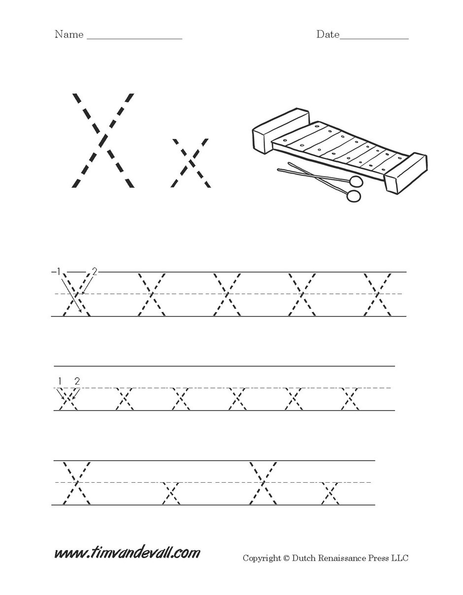 Letter X Worksheets for Preschoolers Letter X Worksheet Printable Tim S Printables