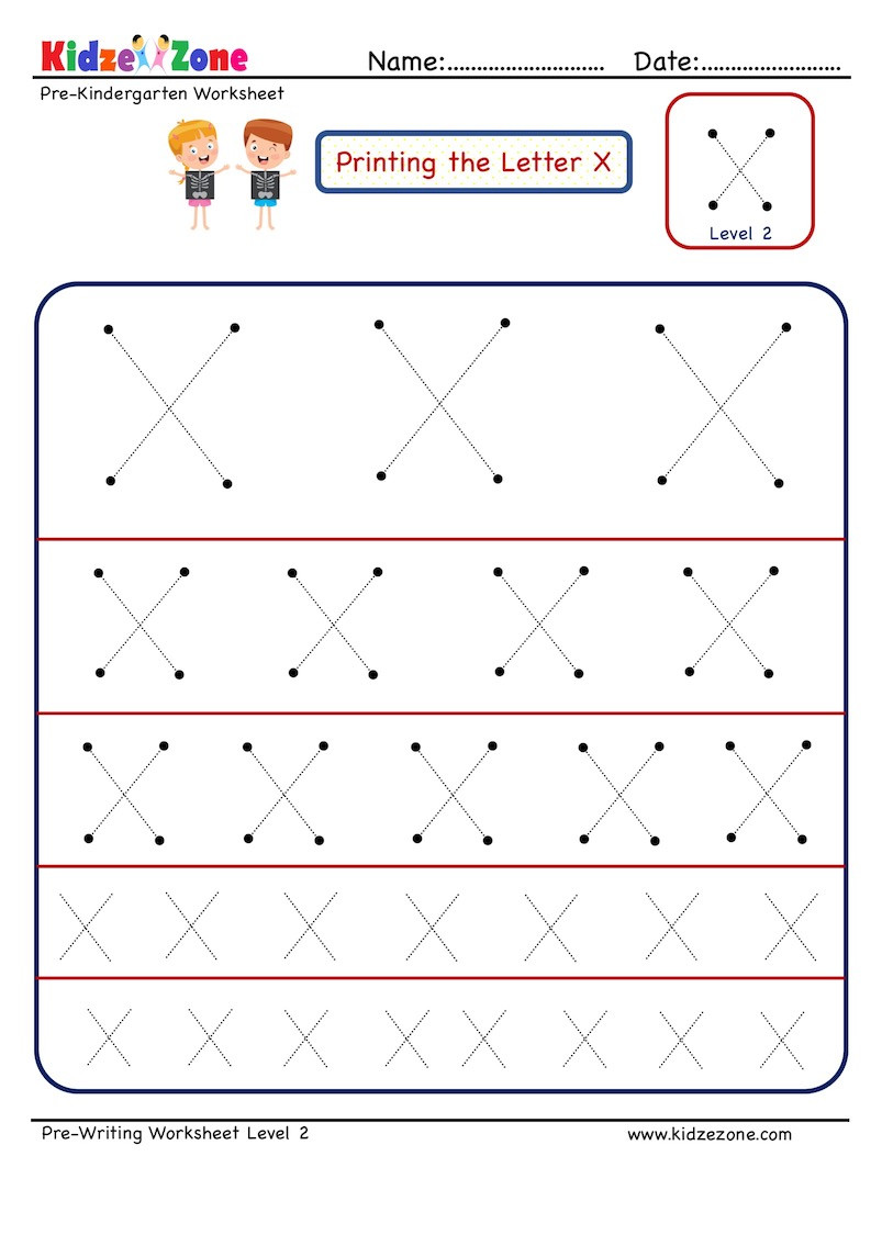 Letter X Worksheets for Preschoolers Preschool Letter Tracing Worksheet Letter X Different