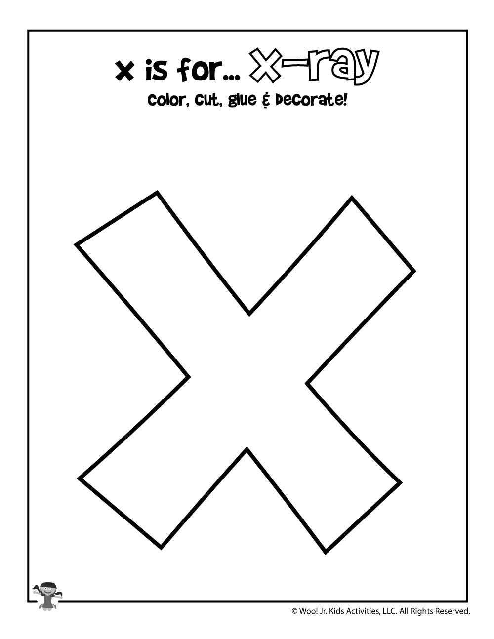 Letter X Worksheets for Preschoolers Printable Letter X Craft