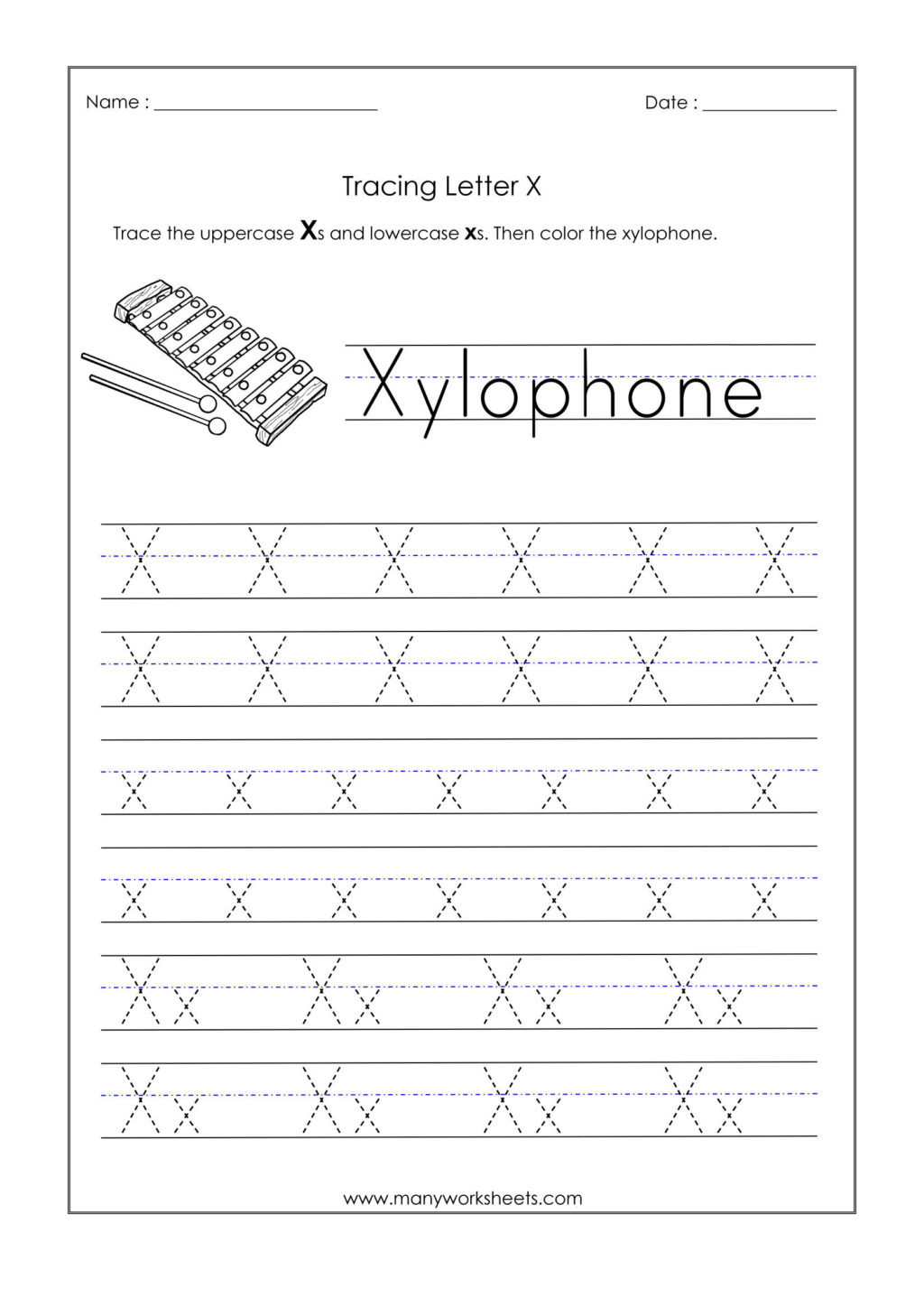 Letter X Worksheets for Preschoolers Worksheet Alphabetiting Sheets Letter X Tracing Worksheet