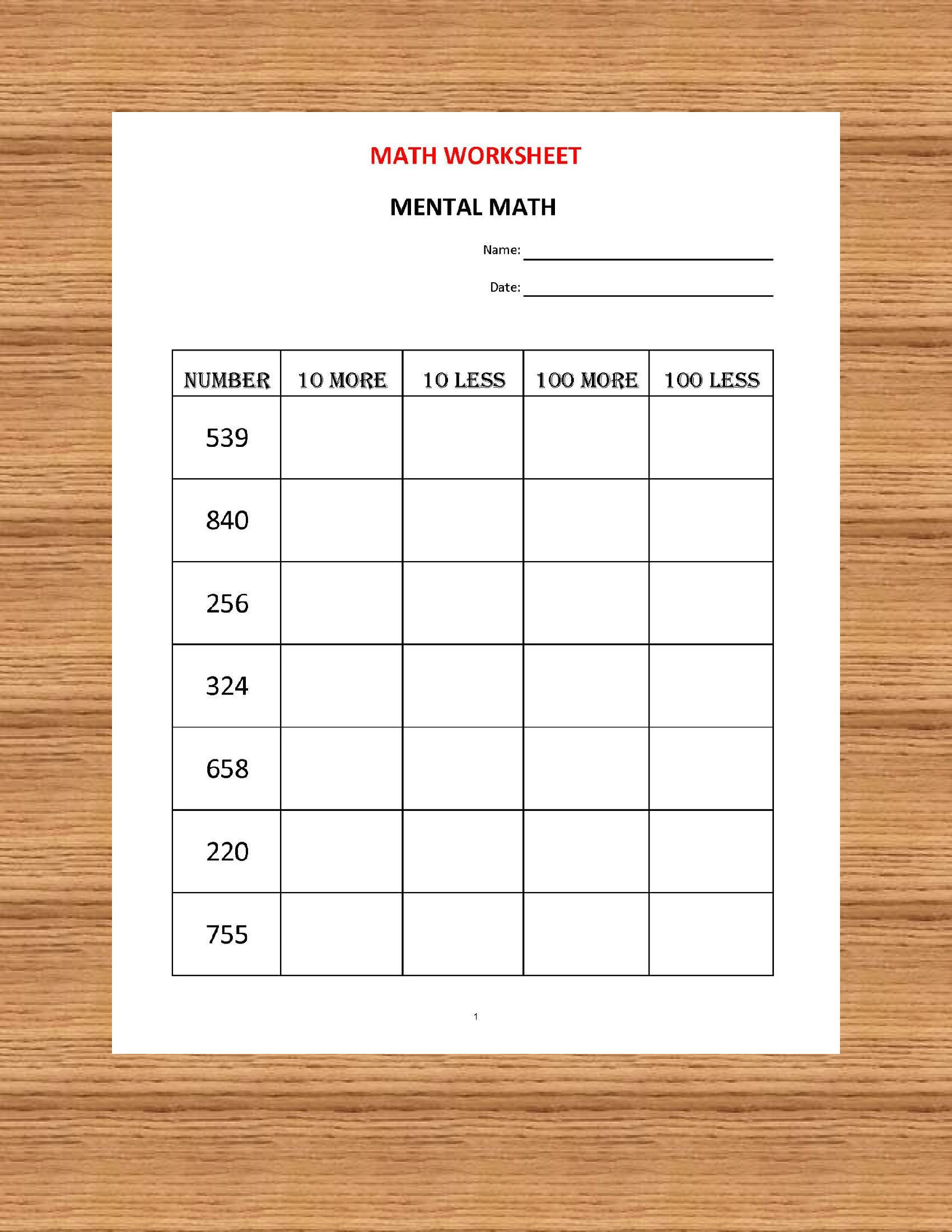 Life Skills Math Worksheets Pdf Mental Math 10 Math Worksheets Pdf Kindergarten Year 1