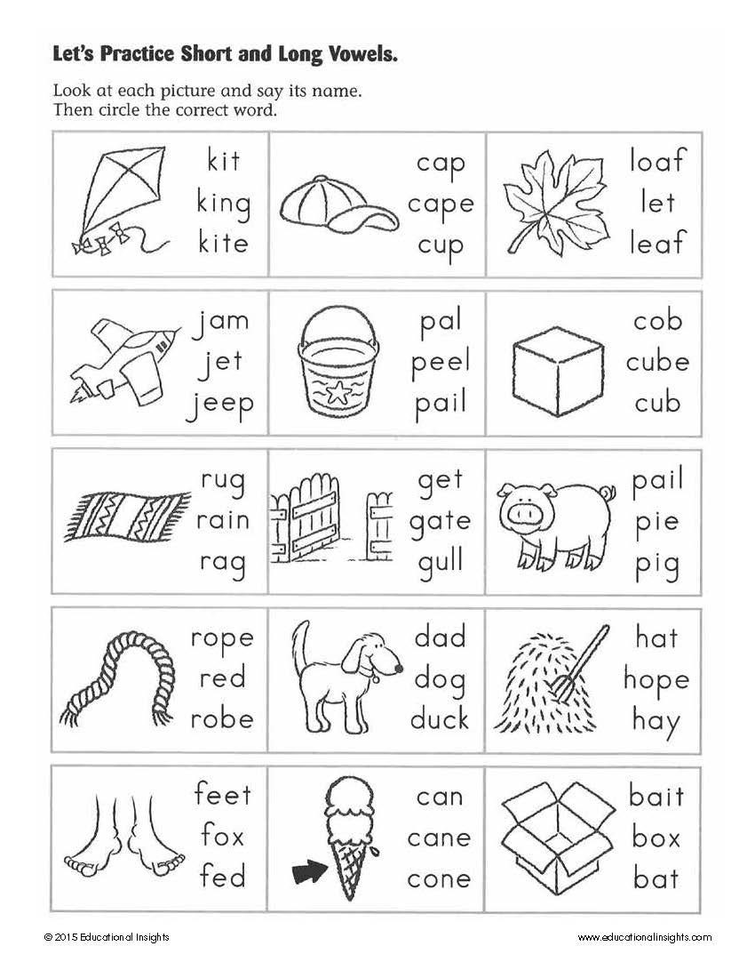 Long Vowels Worksheets First Grade Simple Summer Activities to Help Prepare Kids for