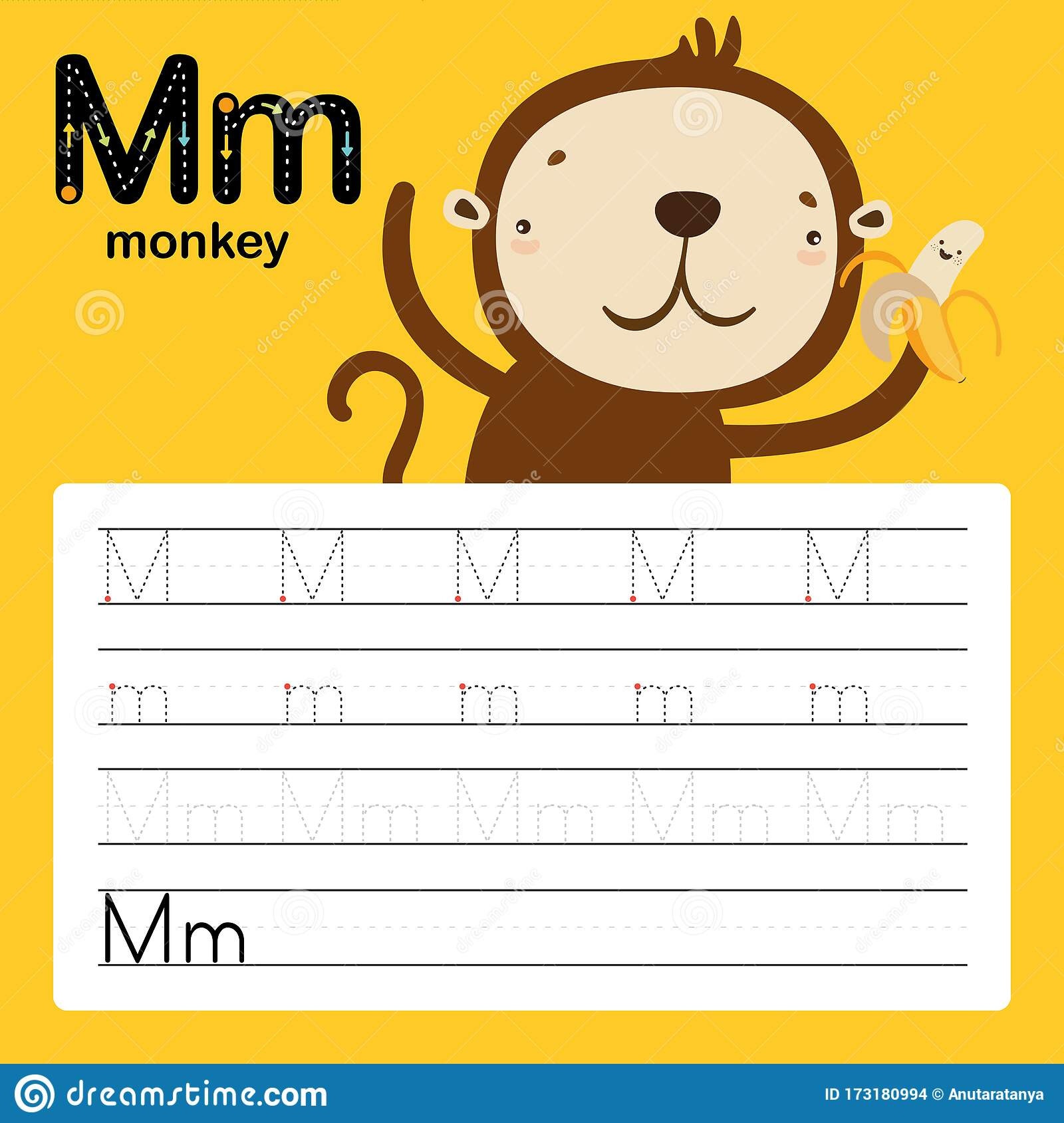 M Worksheets Preschool Alphabet Tracing Worksheet for Preschool and Kindergarten to