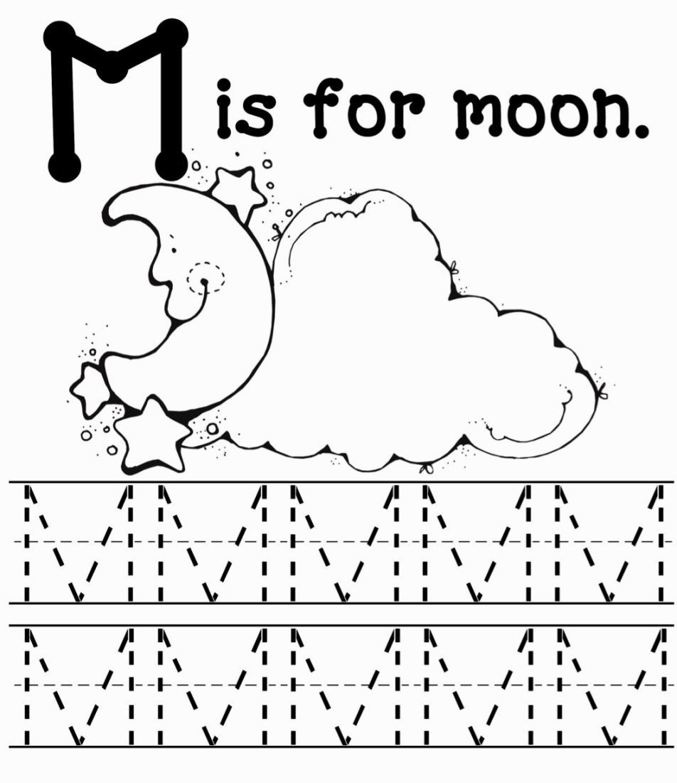 M Worksheets Preschool M Coloring Sheets