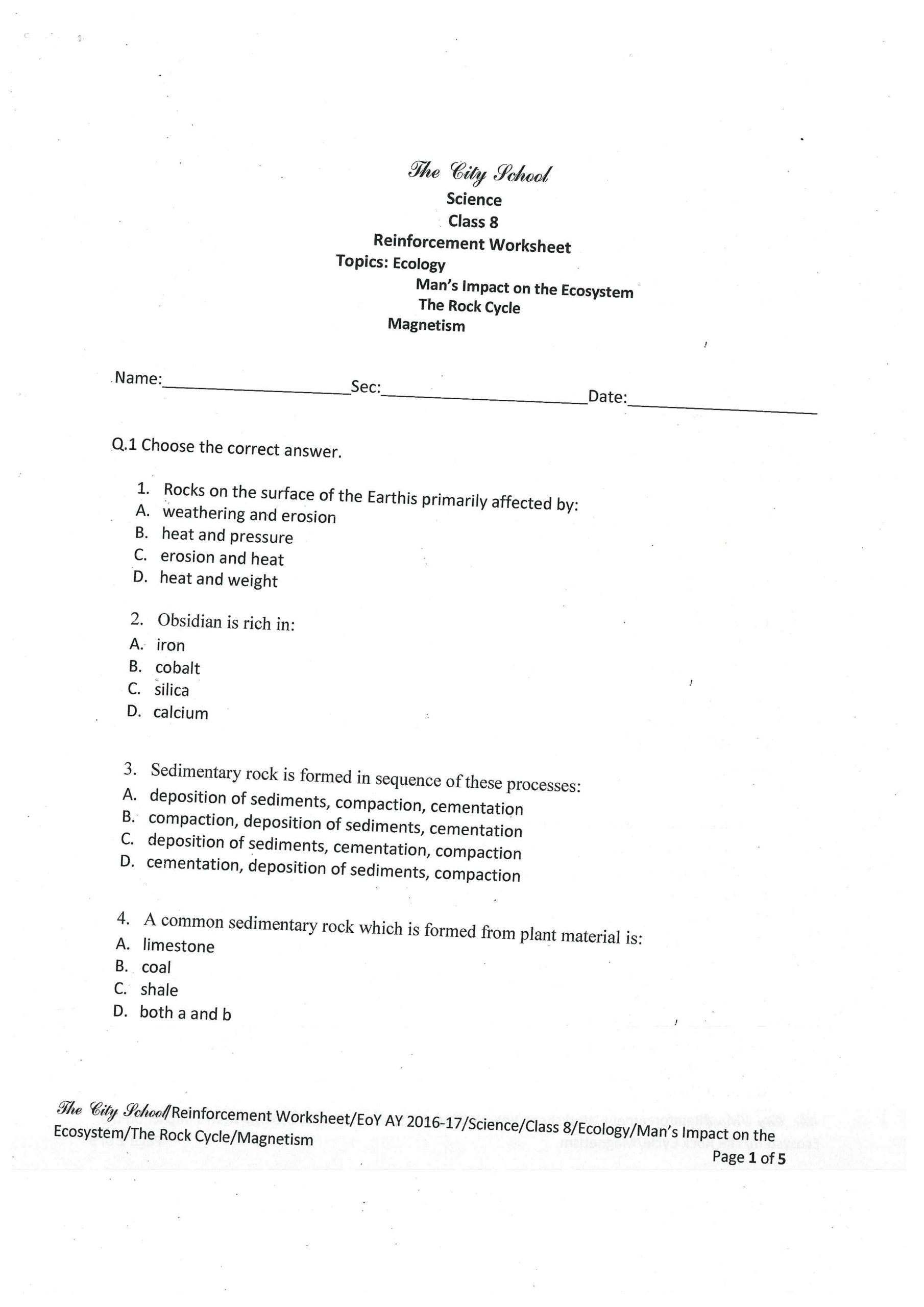 Magnetism Worksheet for High School Rounding Decimals Advanced Preposition Worksheets Wildflower