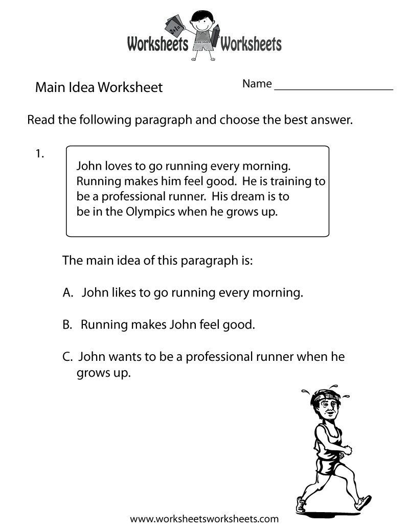 Main Idea Worksheets Grade 1 Main Idea and Supporting Details Worksheets