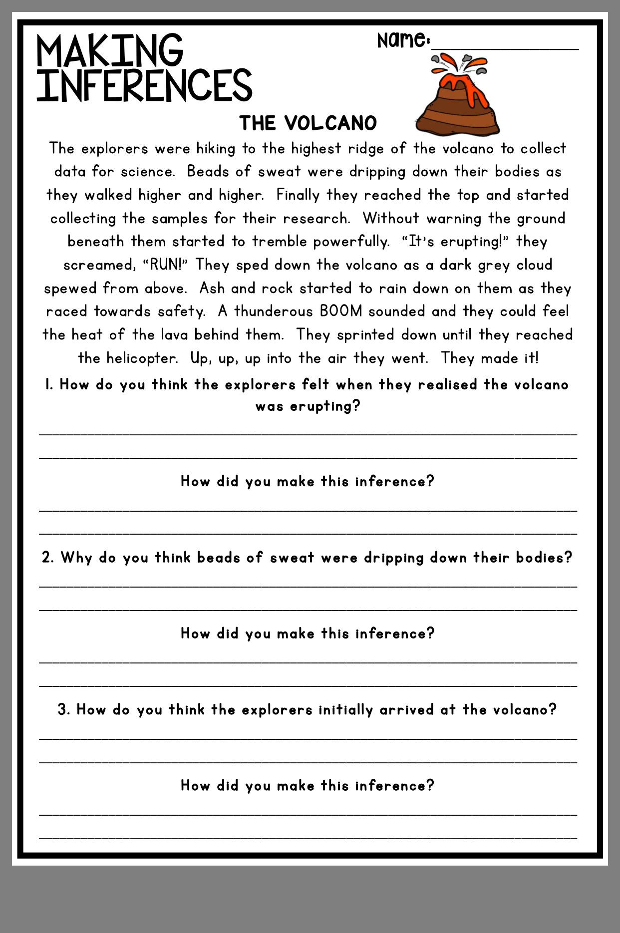 Making Inference Worksheets 4th Grade Pin by Jo Rathod On therapy Ideas