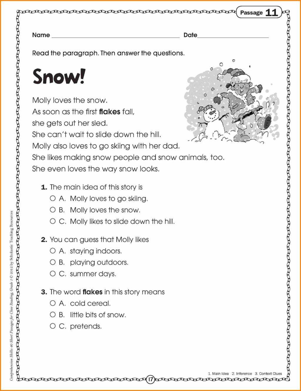 Making Inferences Worksheets 4th Grade Worksheet Reading Fluency Passages 2nd Grade Worksheets