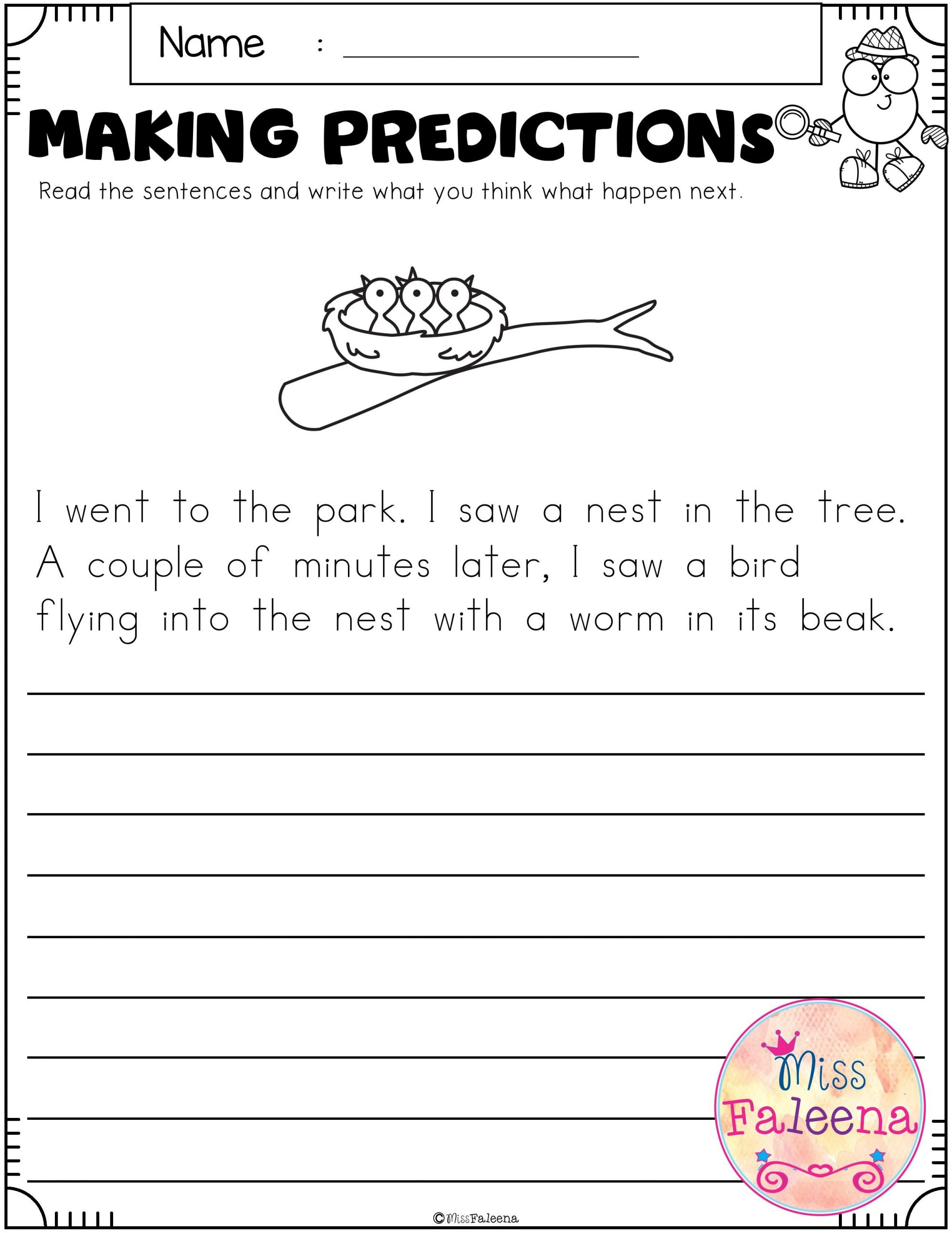 Making Predictions Worksheet 2nd Grade September Making Predictions In 2020