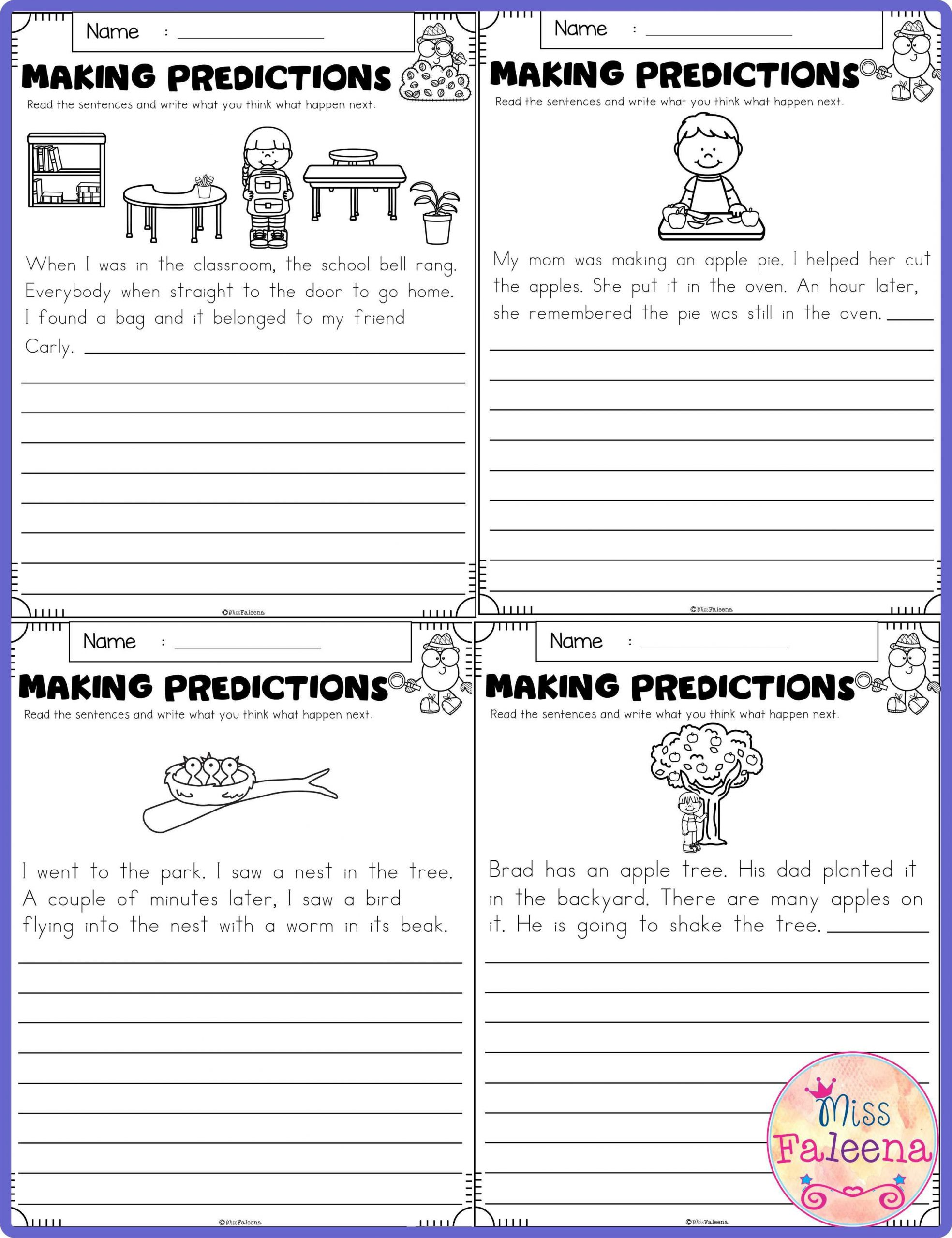 Making Predictions Worksheets 2nd Grade September Making Predictions In 2020 with Images