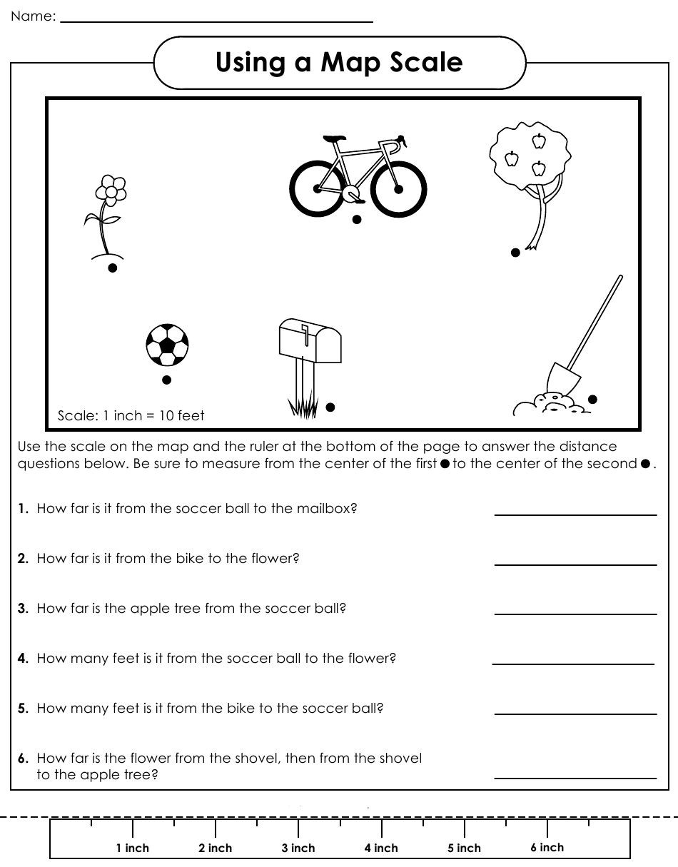 Map Scale Worksheet 4th Grade Map Scale Worksheet