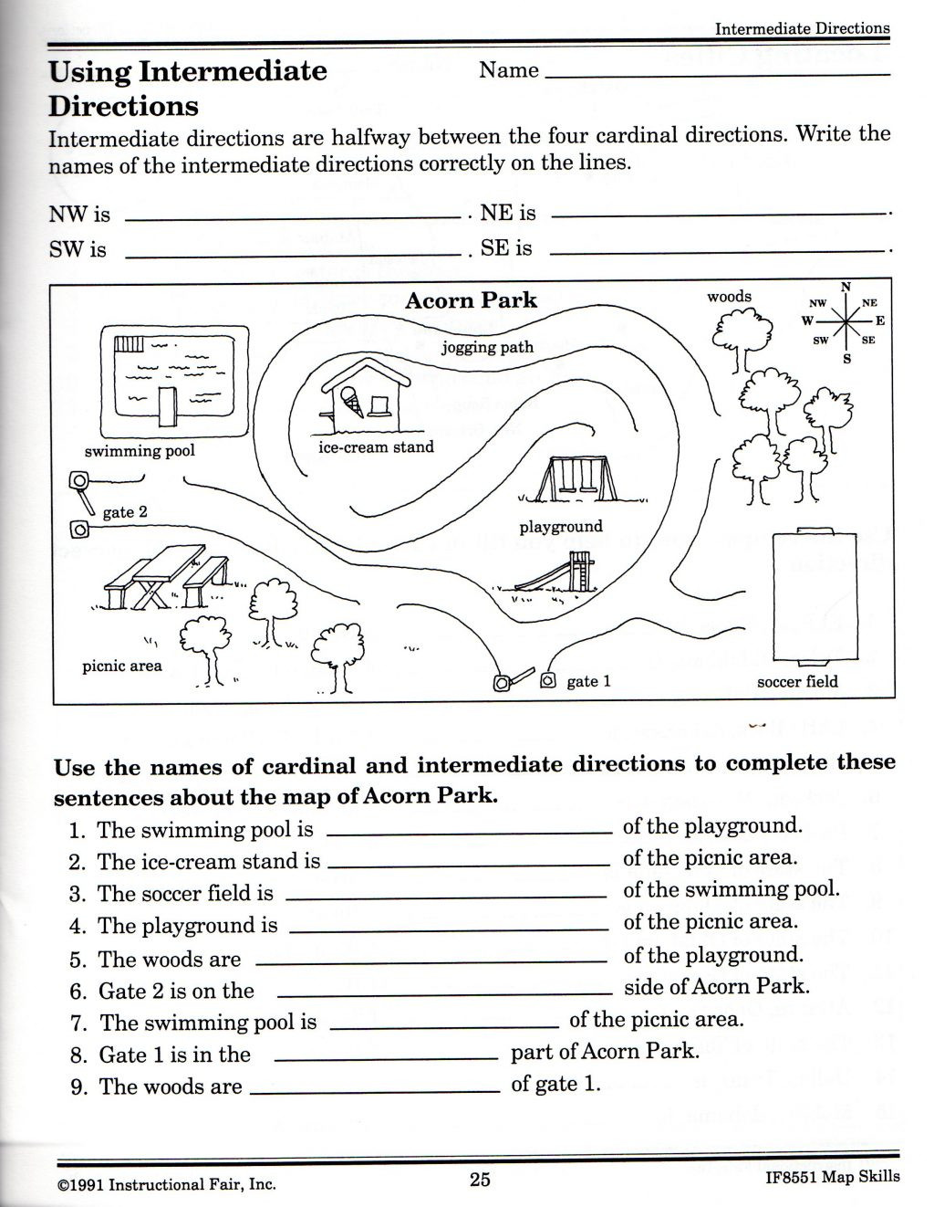 Map Worksheets 2nd Grade Map Skills Worksheets for Print Map Skills Worksheets