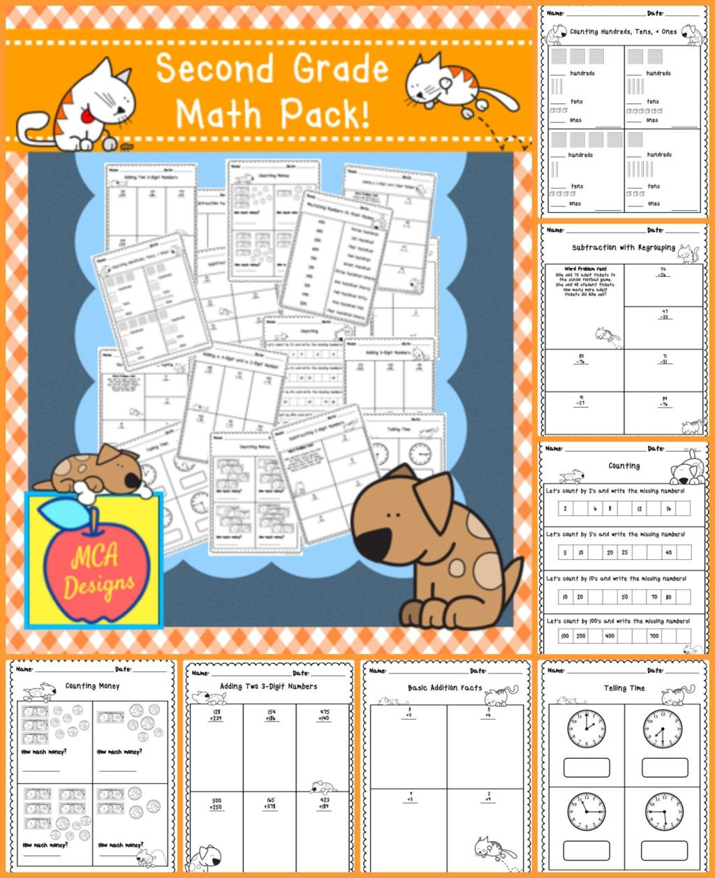 Map Worksheets 2nd Grade Worksheet Worksheet 2nd Grade Mathpics Picture