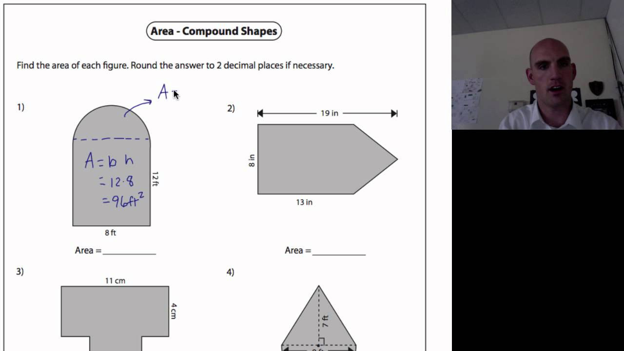 Math Aids Compound Shapes area Of Pound Shapes 1